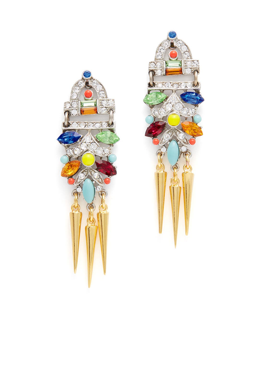 Benamun Bright Deco Spike Earrings