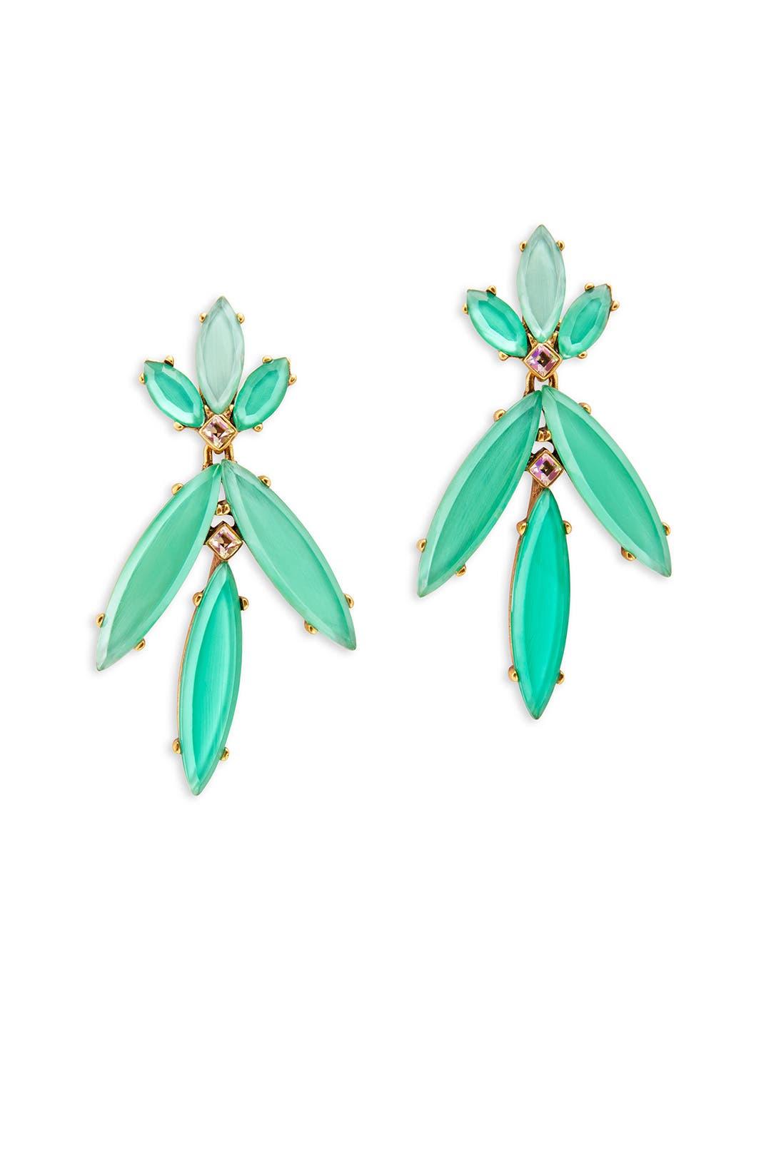 Marquise Leaf Earring by Oscar de la Renta