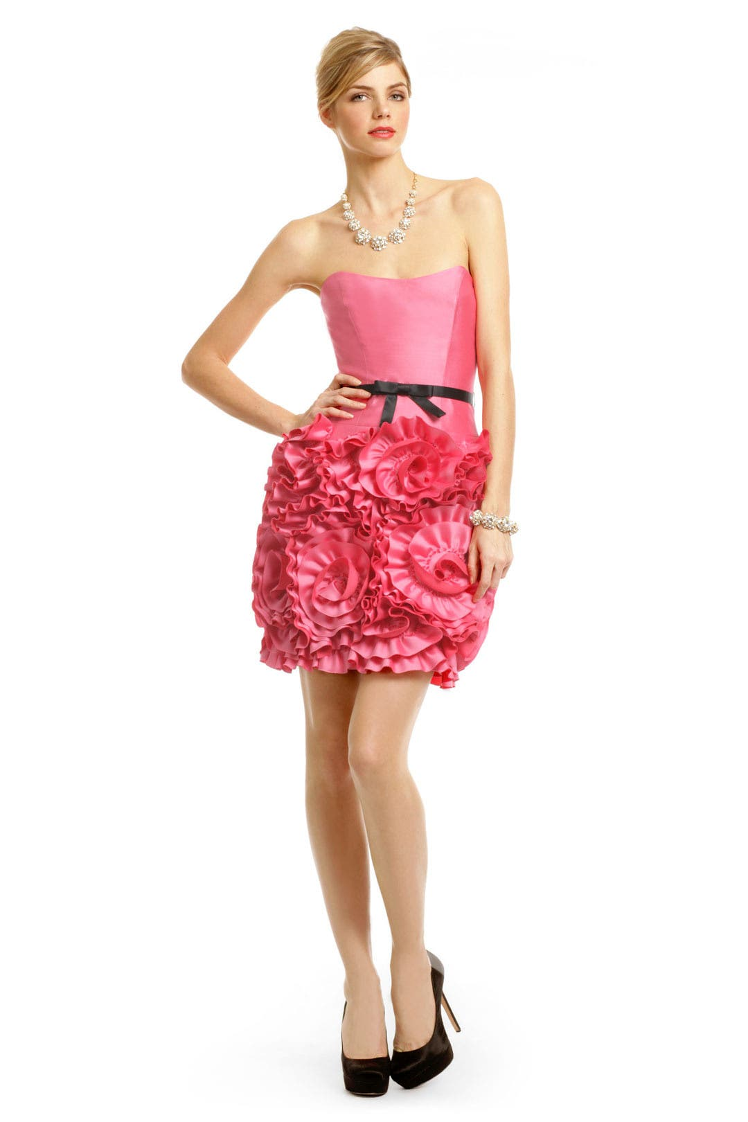Pink Almond Rosette Dress by Milly