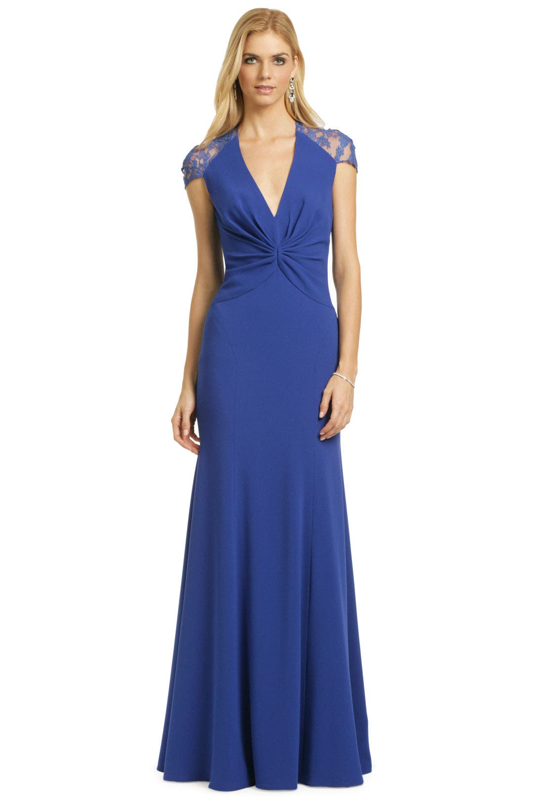 Sapphire Serenity Gown by Reem Acra for $1200 | Rent the Runway