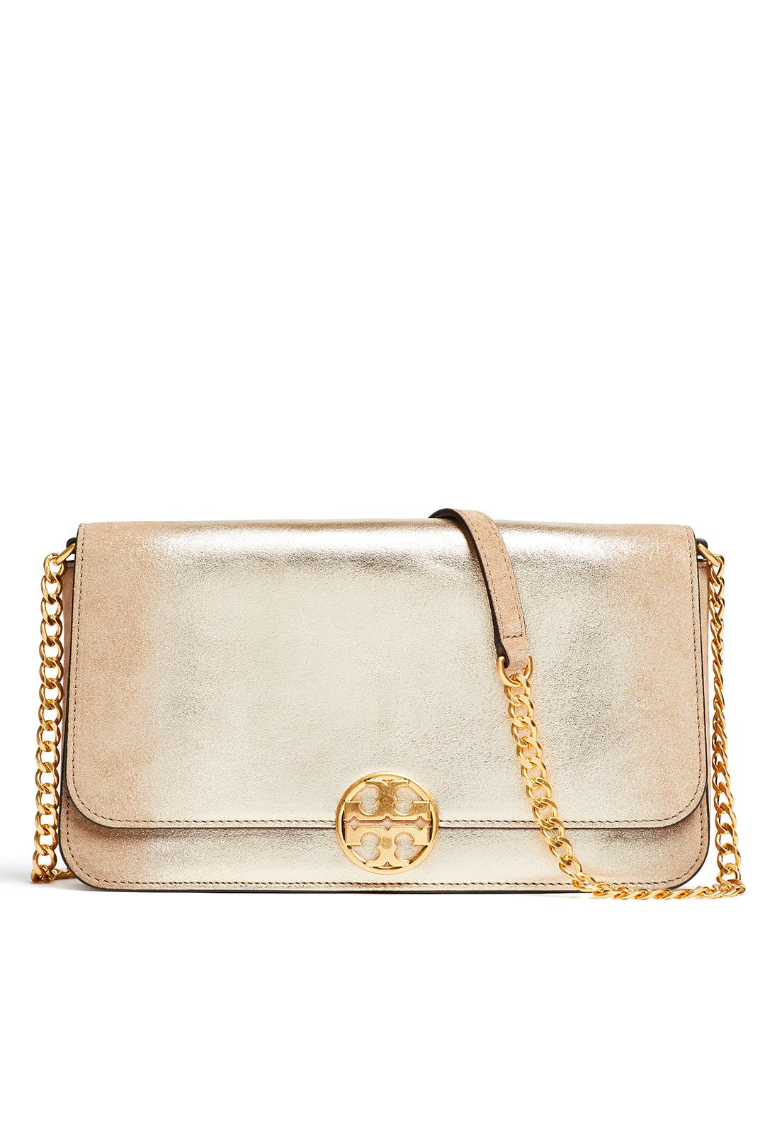425ef3f1d2 Gold Chelsea Crossbody by Tory Burch Accessories for $60 | Rent the ...