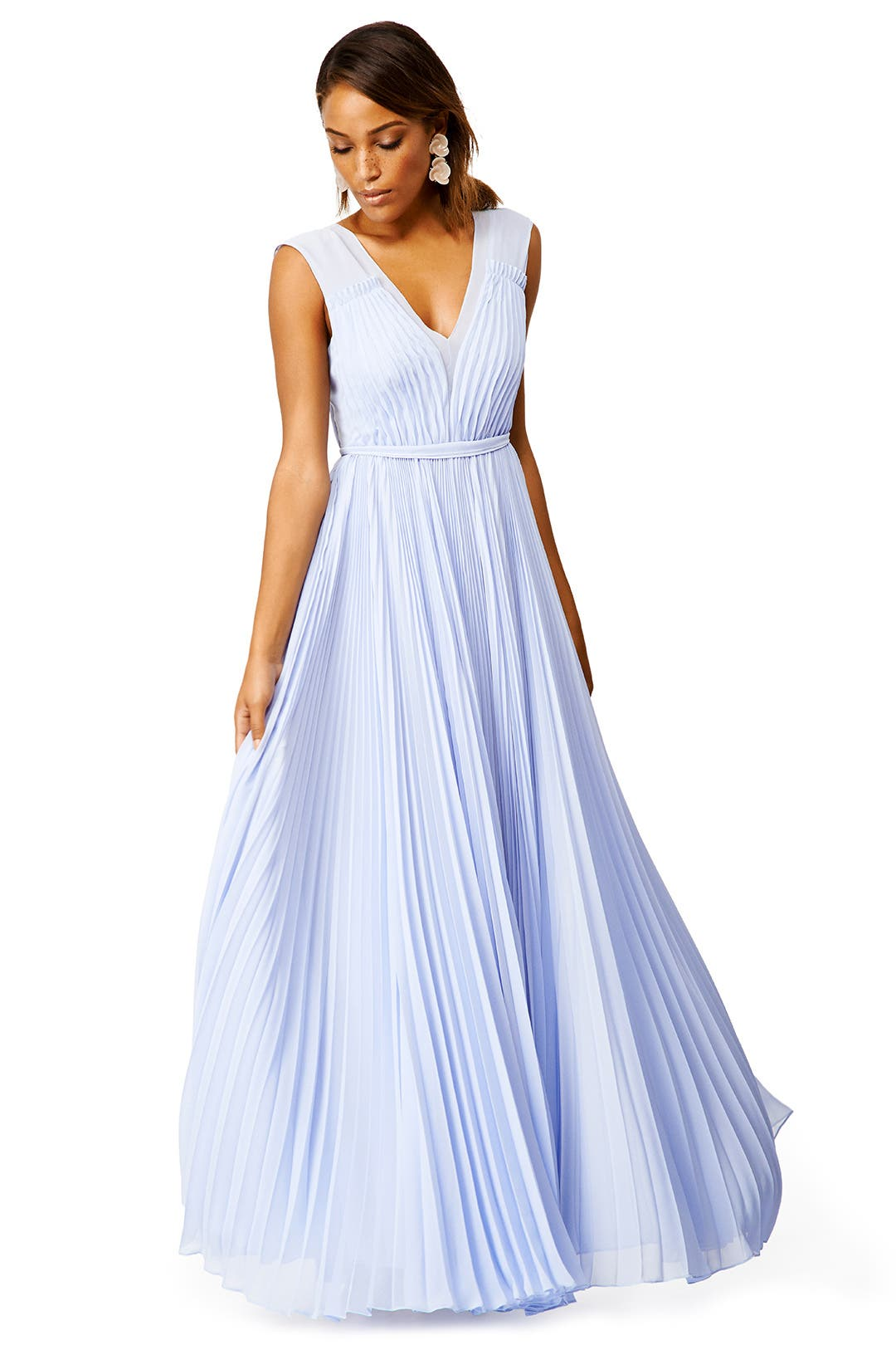 Periwinkle Pleats Gown by Rebecca Taylor for $230 | Rent the Runway