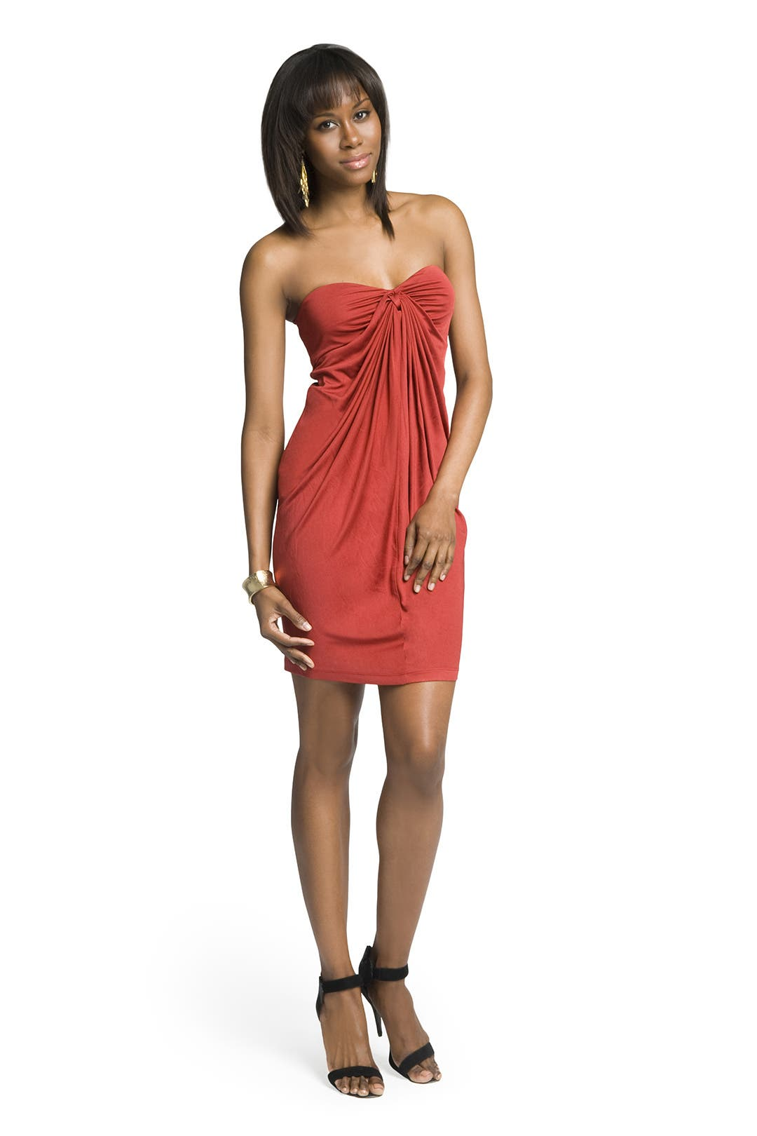 Draped Sultry Strapless Dress by Catherine Malandrino
