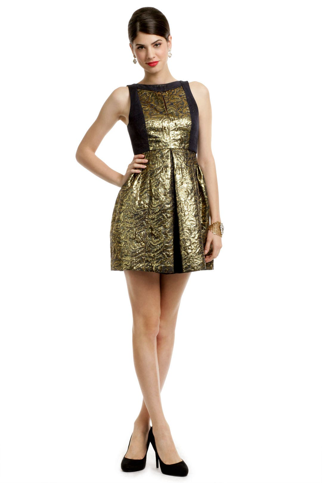 Metallic Jacquard Dress by Tibi