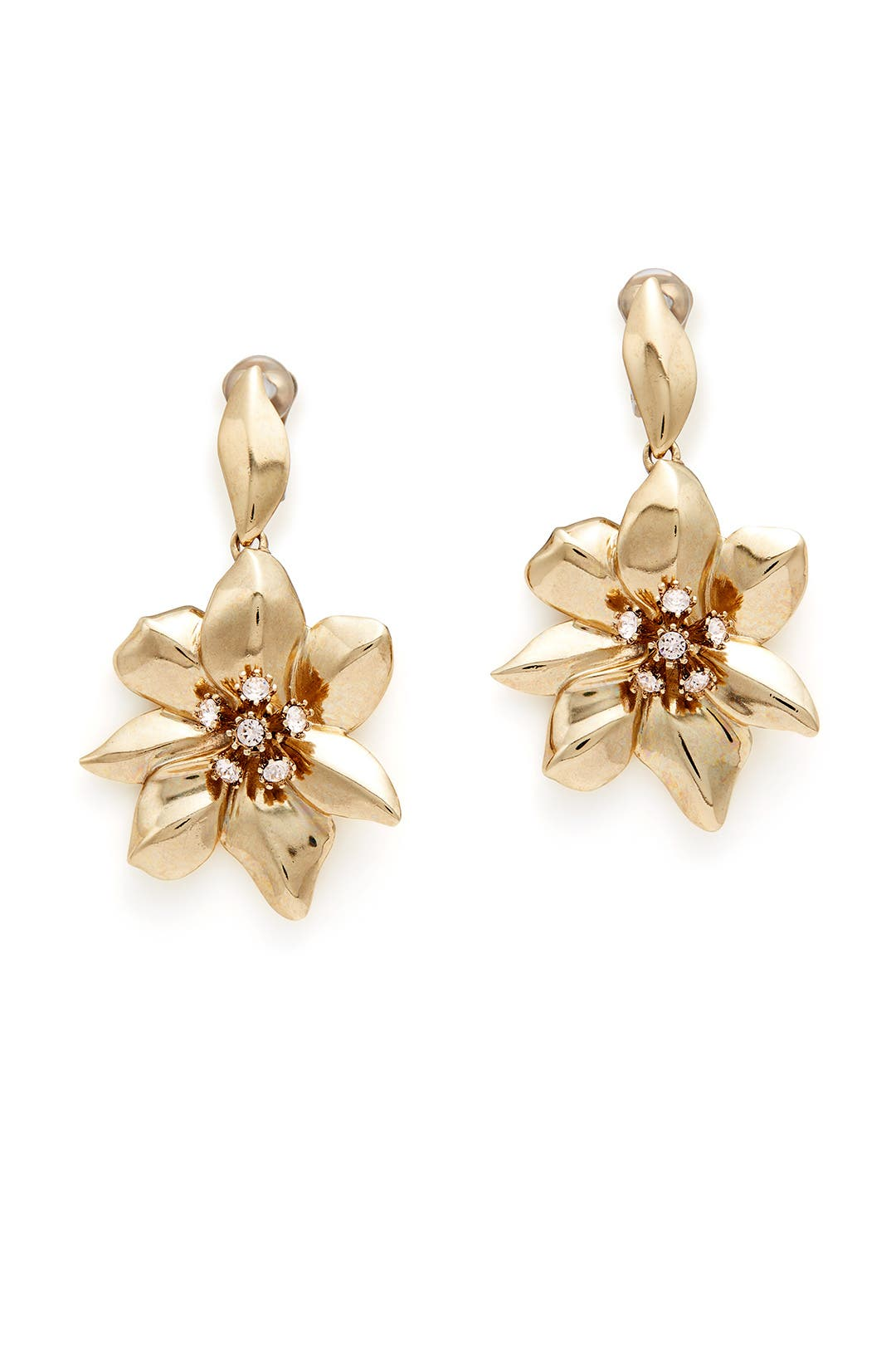 Bisque Flower Earrings By Oscar De La Renta For 45 Rent