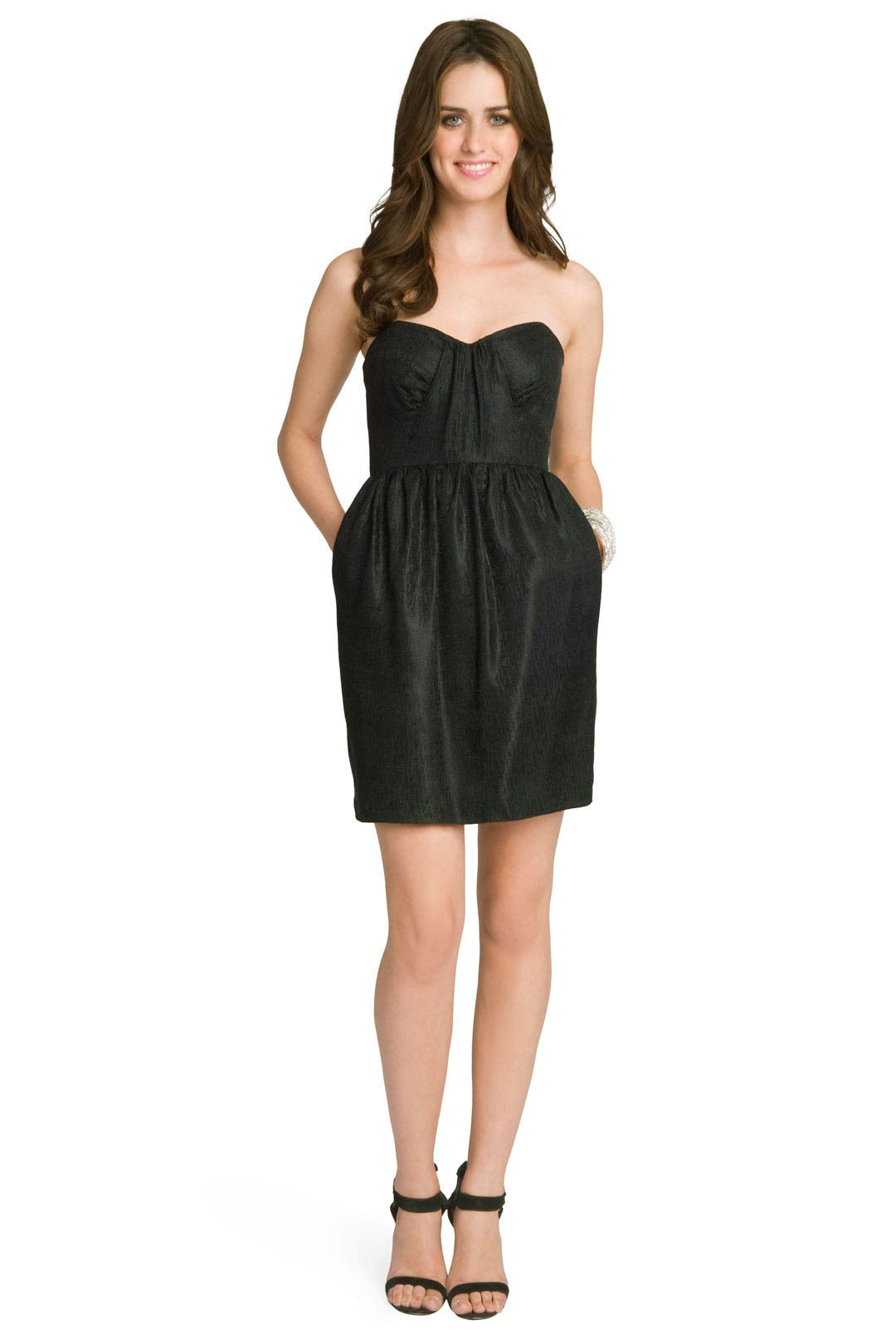 Jacquard Pleated Bodice Dress by Shoshanna