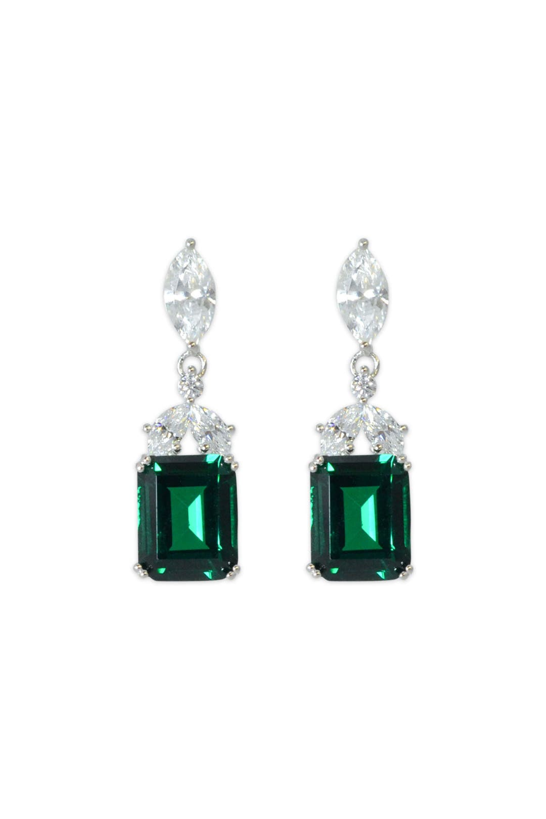 Laurel Green Drop Earrings by Crislu