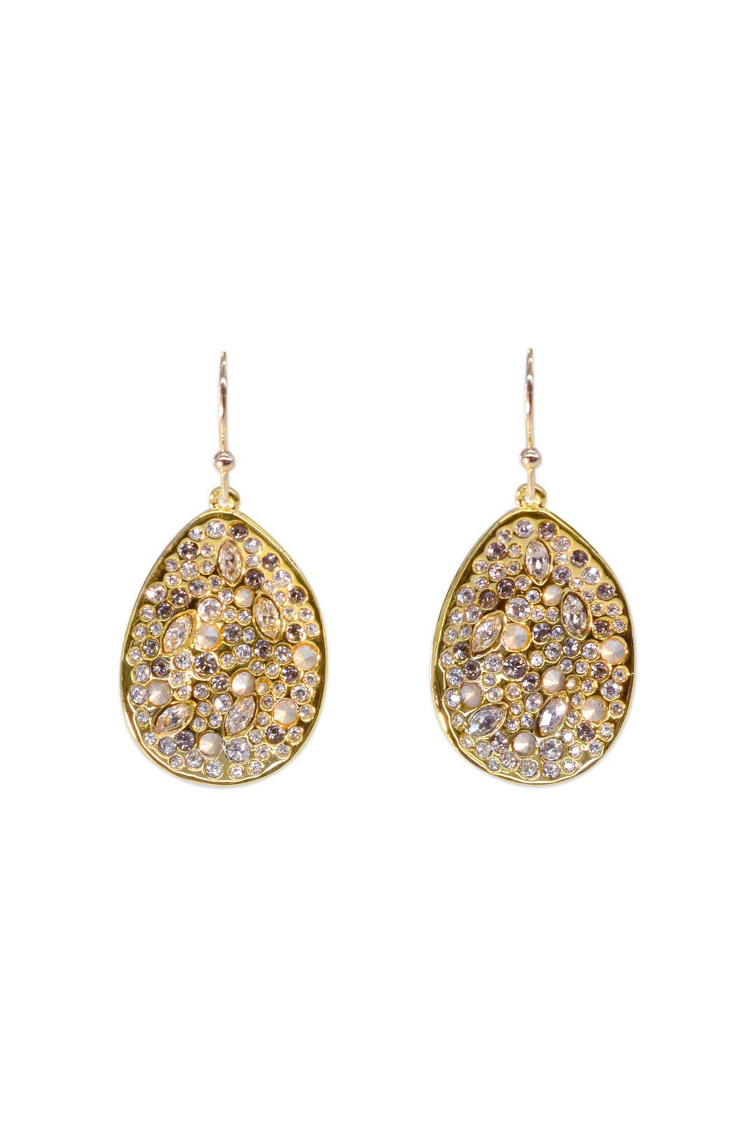 Gold Pave Teardrop Earring by Alexis Bittar