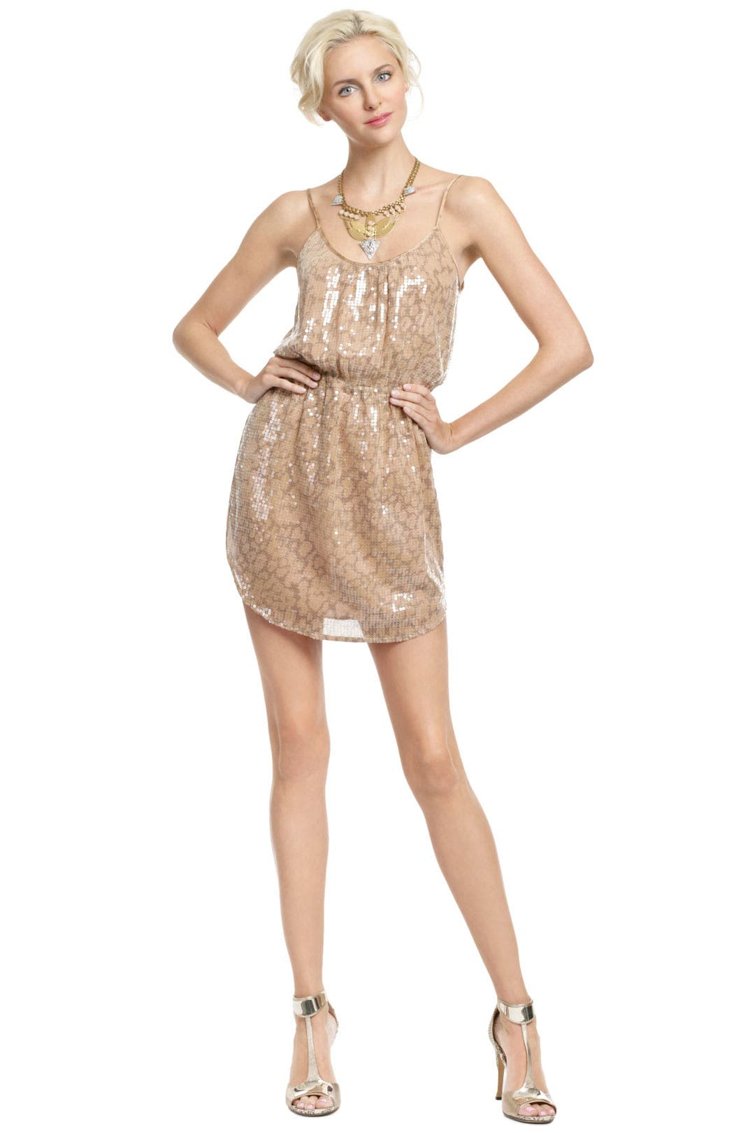 Desert Sequin Sun Dress by Rebecca Taylor for $72 | Rent the Runway
