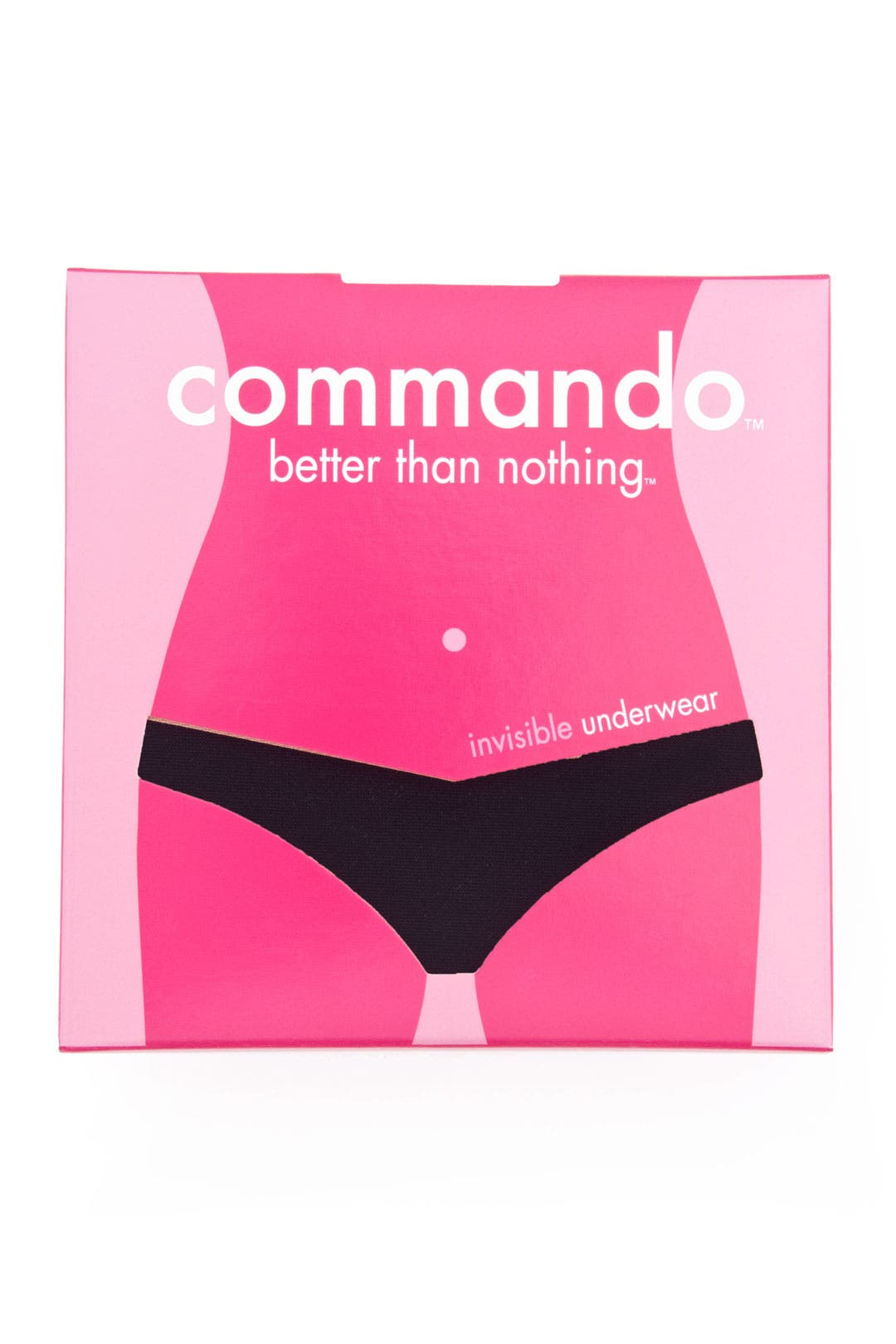 Seamless Black Low-Rise Thong by Commando