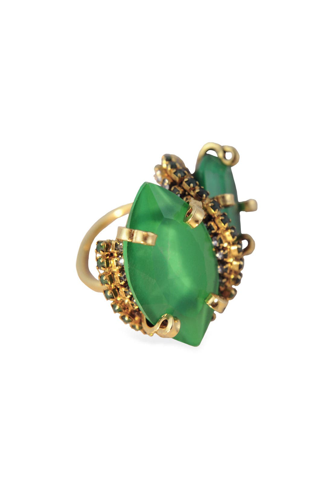 Bette Davis Eyes Emerald Ring by Erickson Beamon