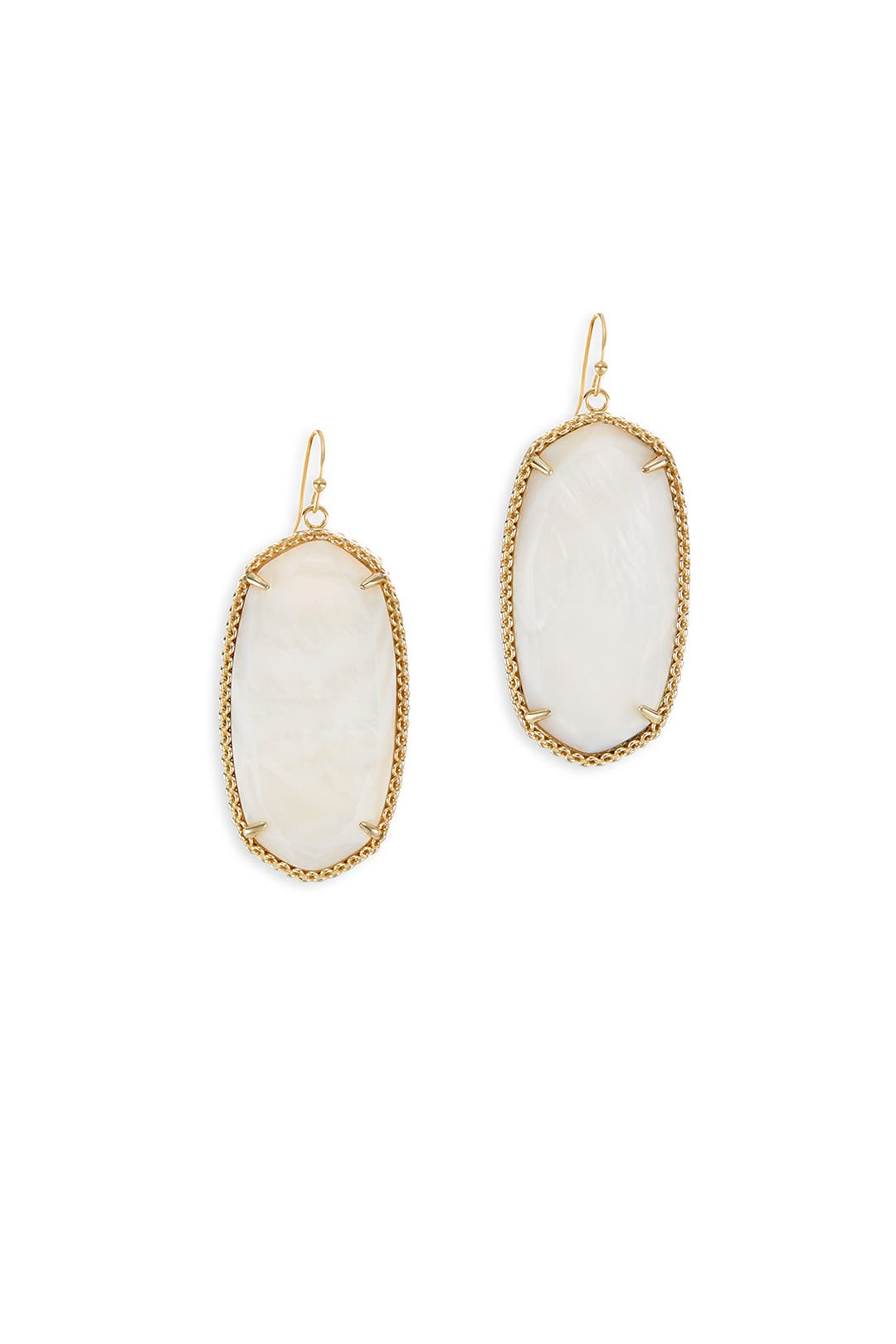 White Deily Earrings by Kendra Scott