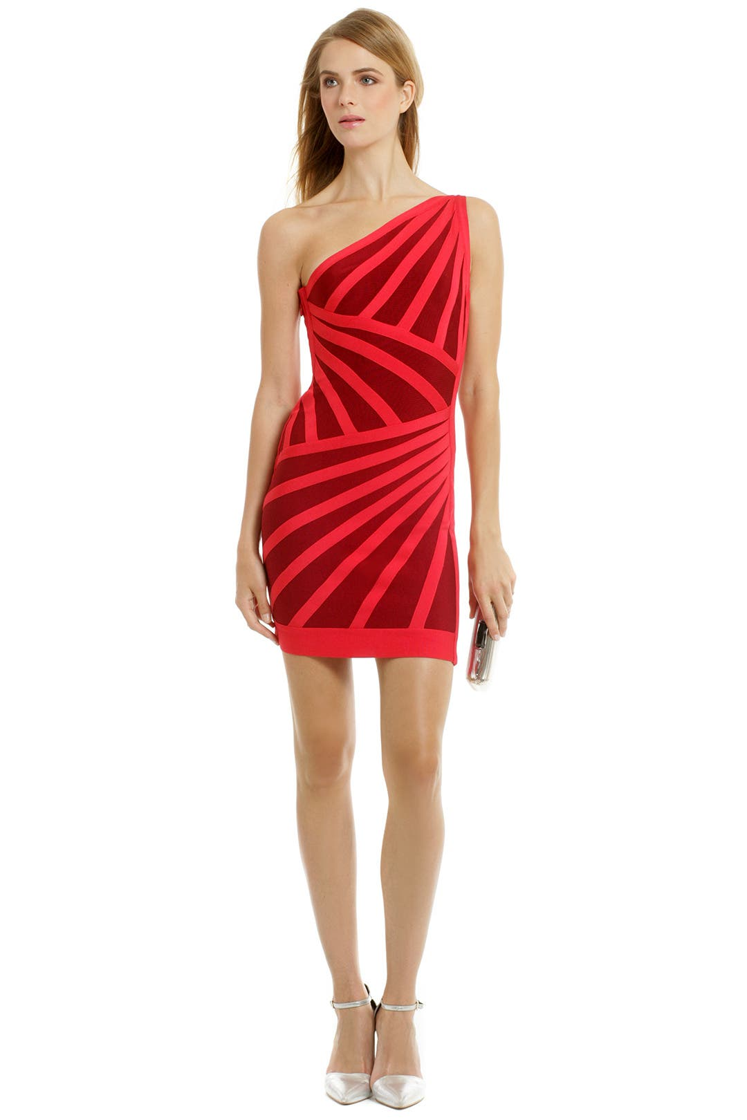 Crimson Sunset Sheath by Hervé Léger for $35 - $50 | Rent the Runway