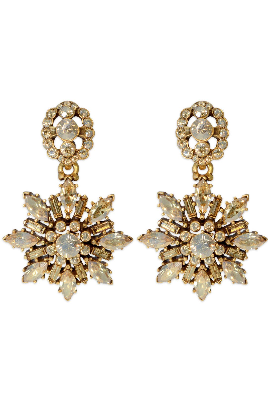 Etoile Earrings by Oscar de la Renta