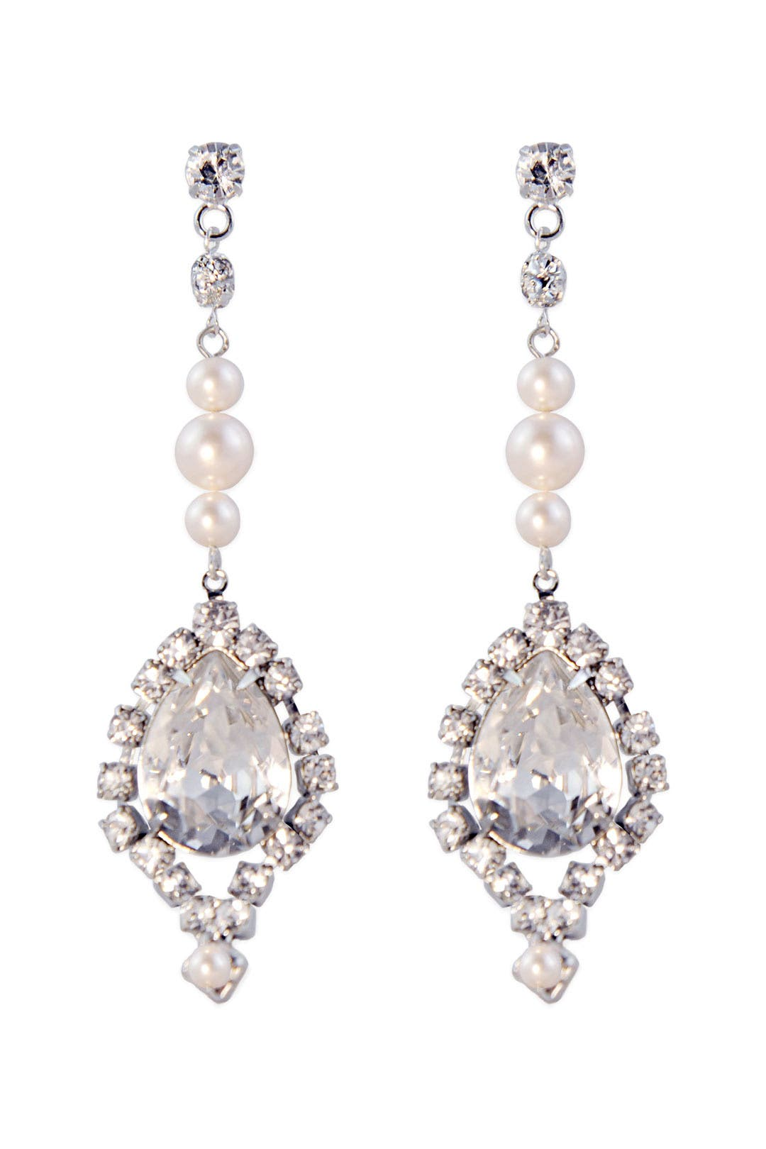 Petite Rogue Pearl Earrings by Tom Binns