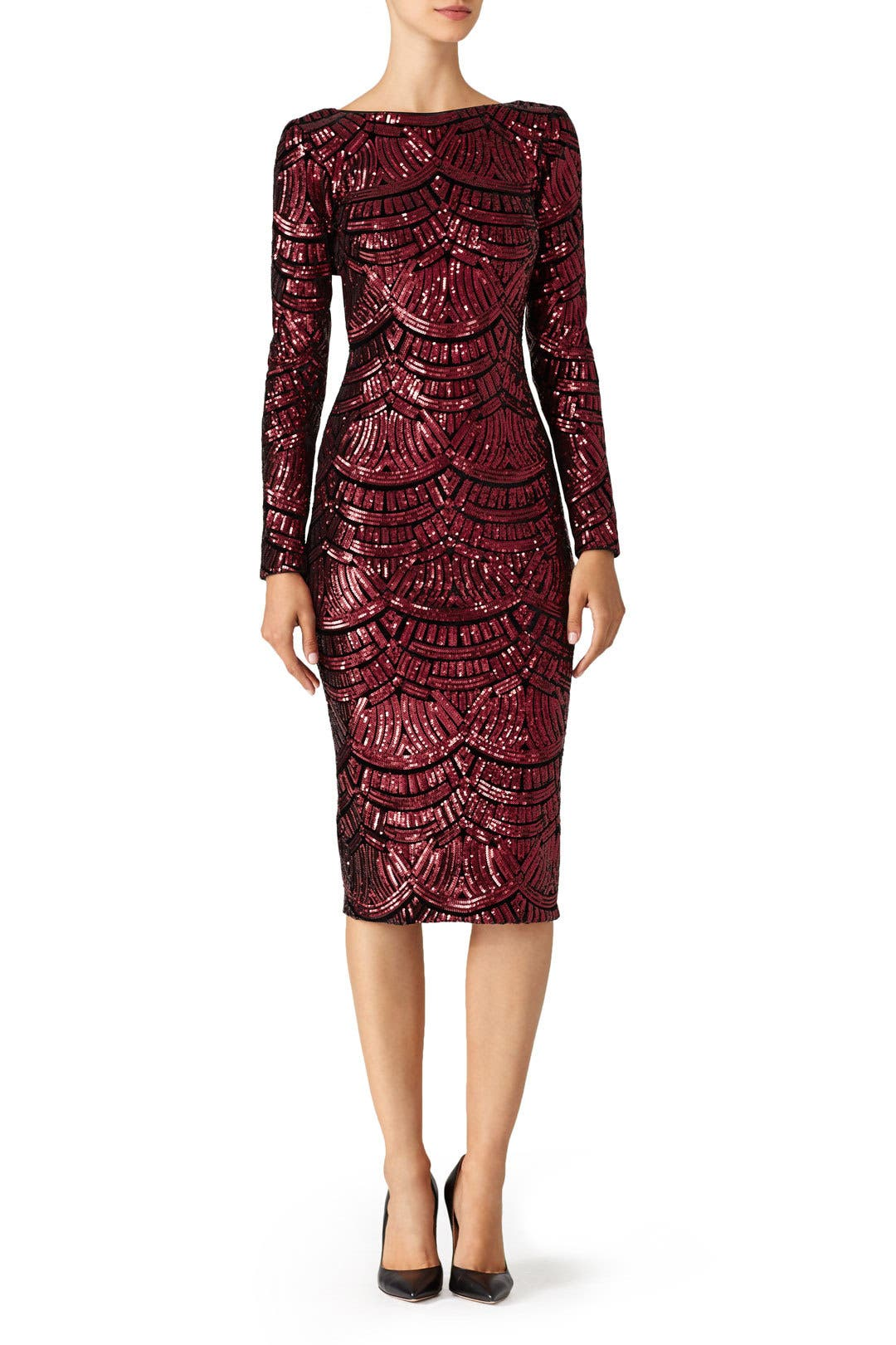 Burgundy Emery Dress By Dress The Population For 30 40