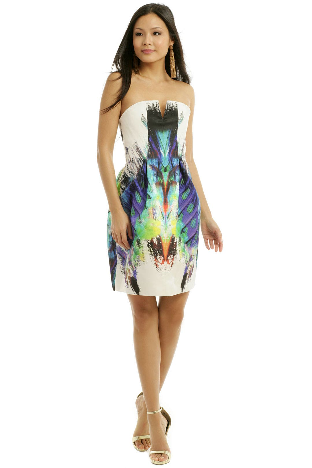 Rainbow Fossil Cocktail Dress by Josh Goot