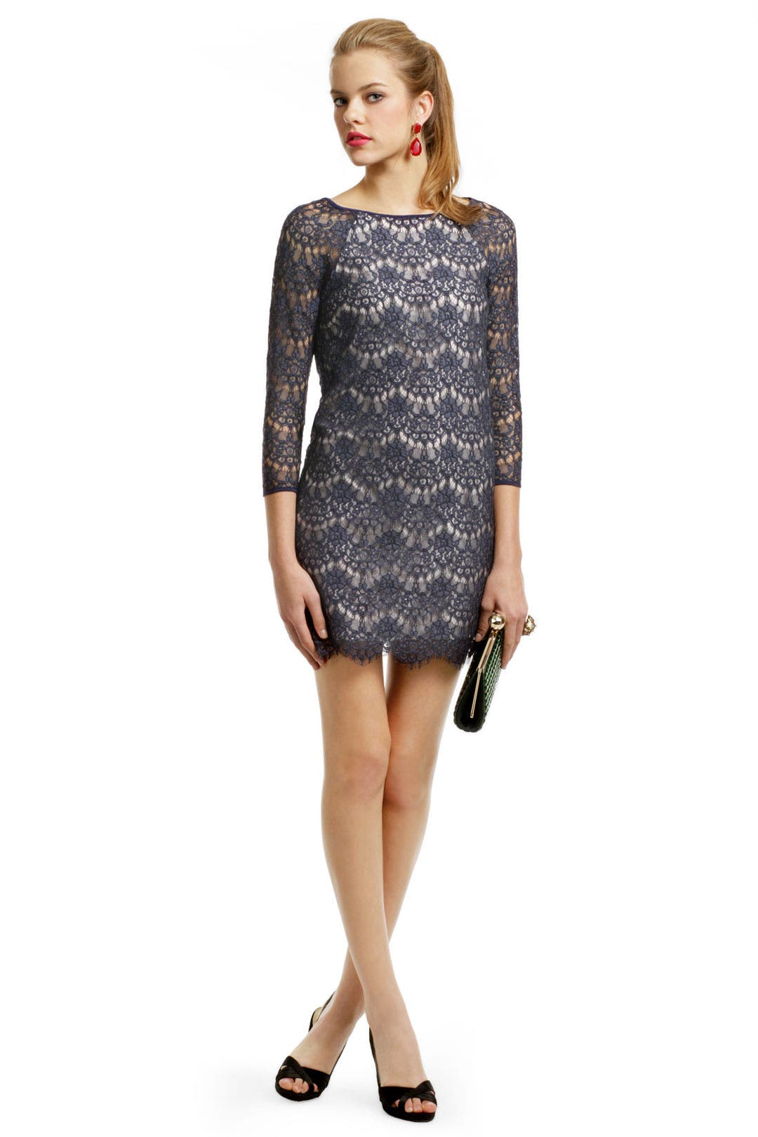 Babbet Lace Shift Dress by Tibi