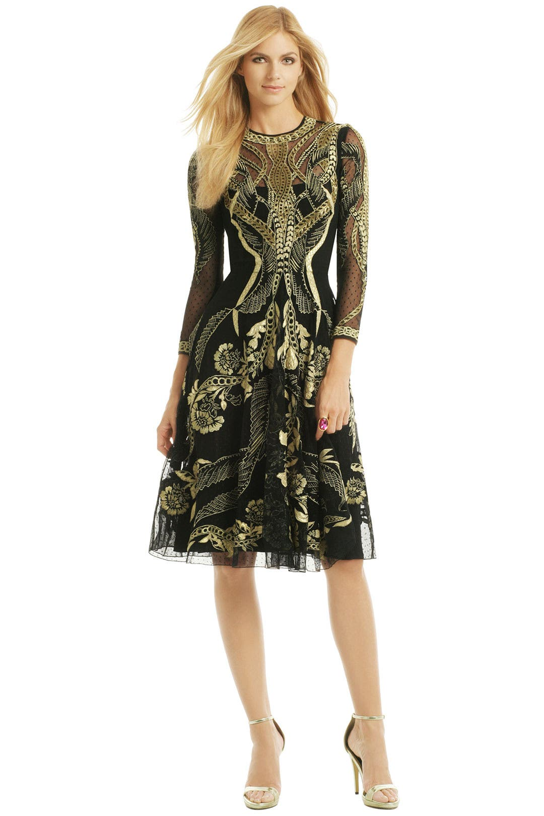 Golden Arc Dress by Temperley London