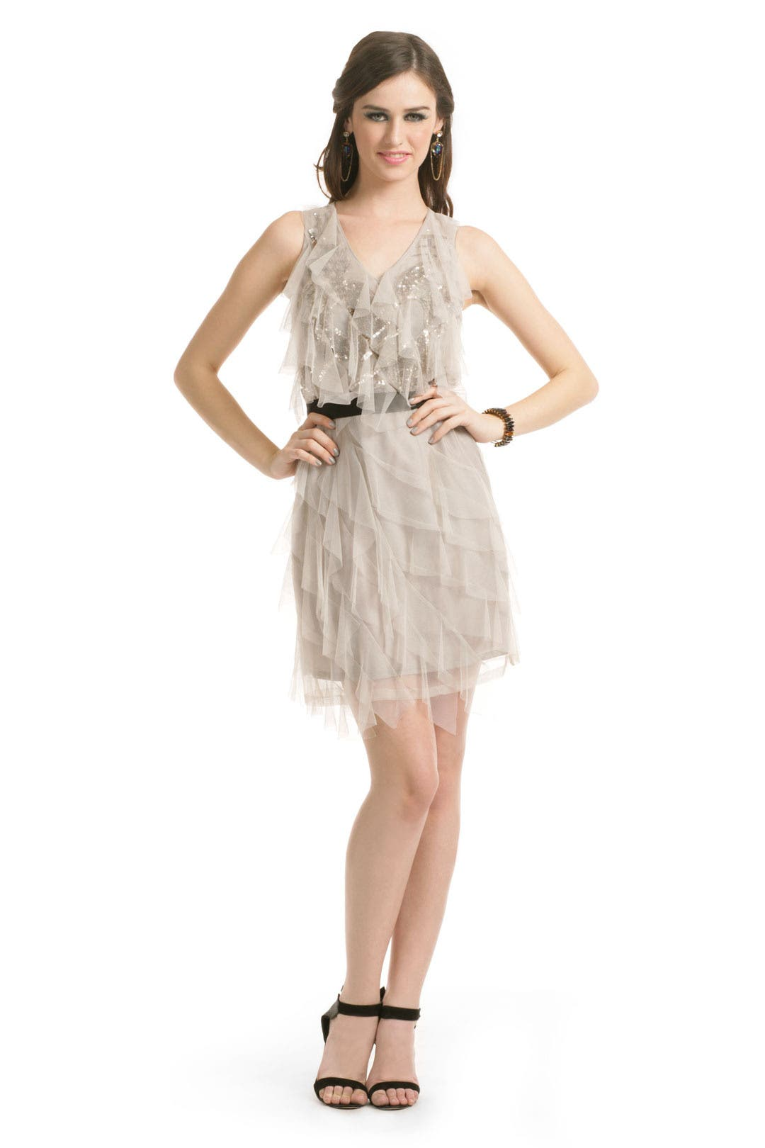 Gray Gatsby Dress by Sachin & Babi