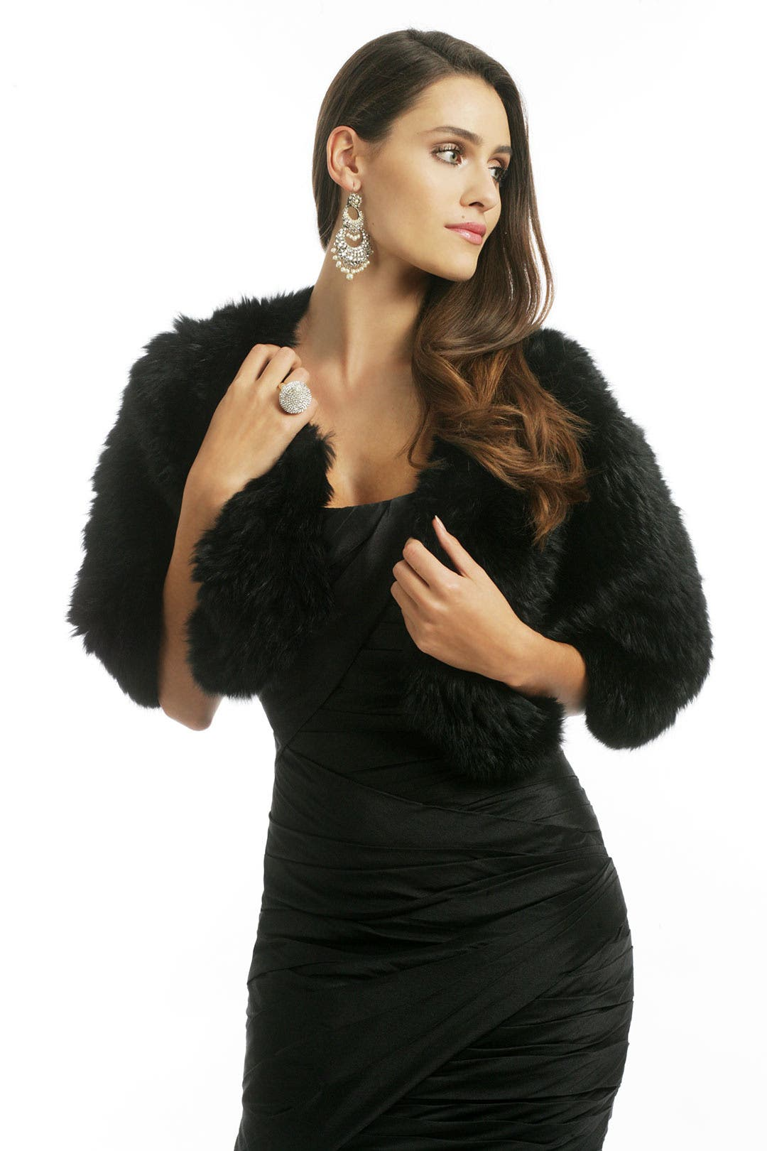 Black Rabbit Capelet by Adrienne Landau