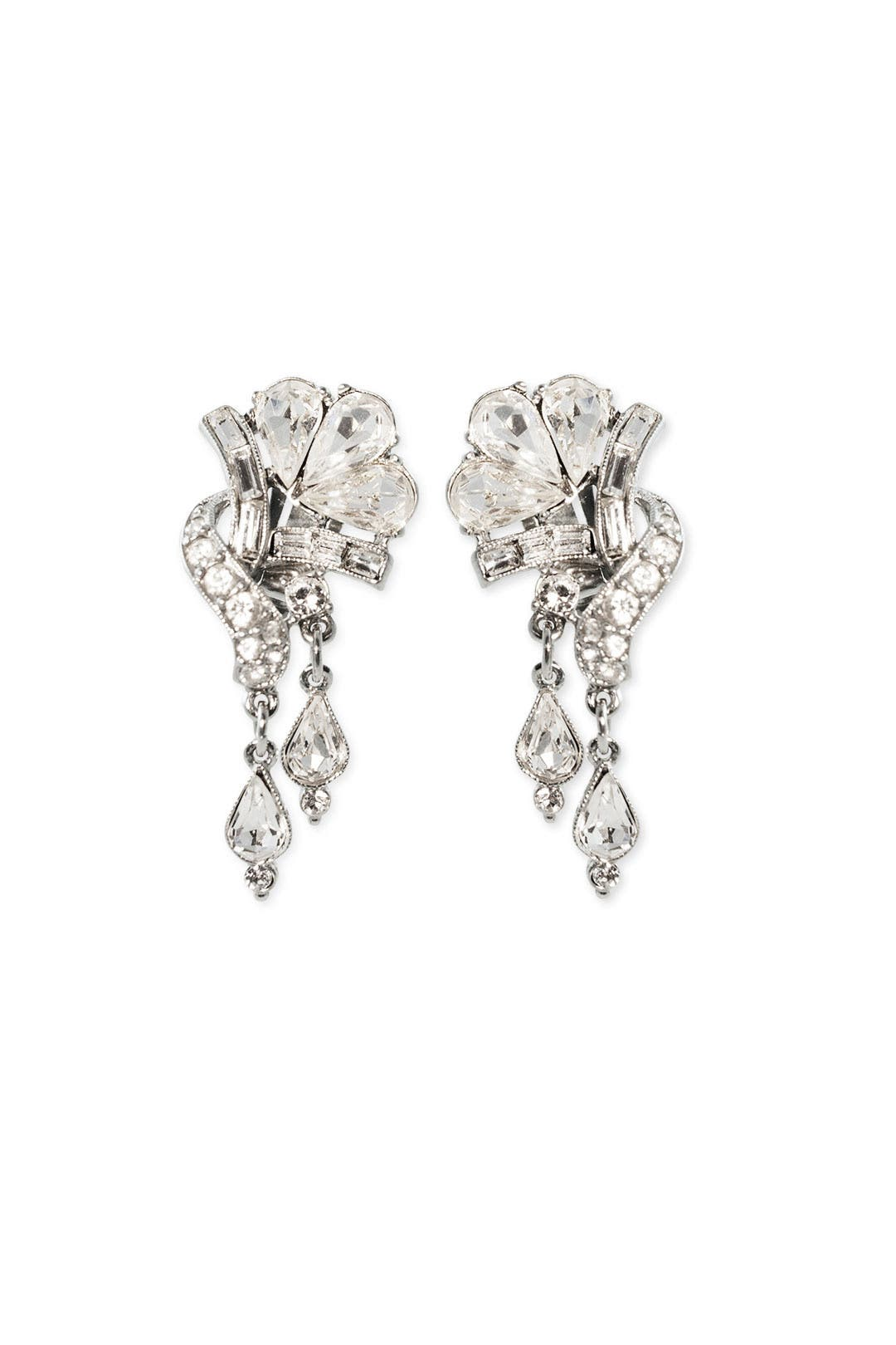 Twisted Floral Drop Earrings by Ben-Amun