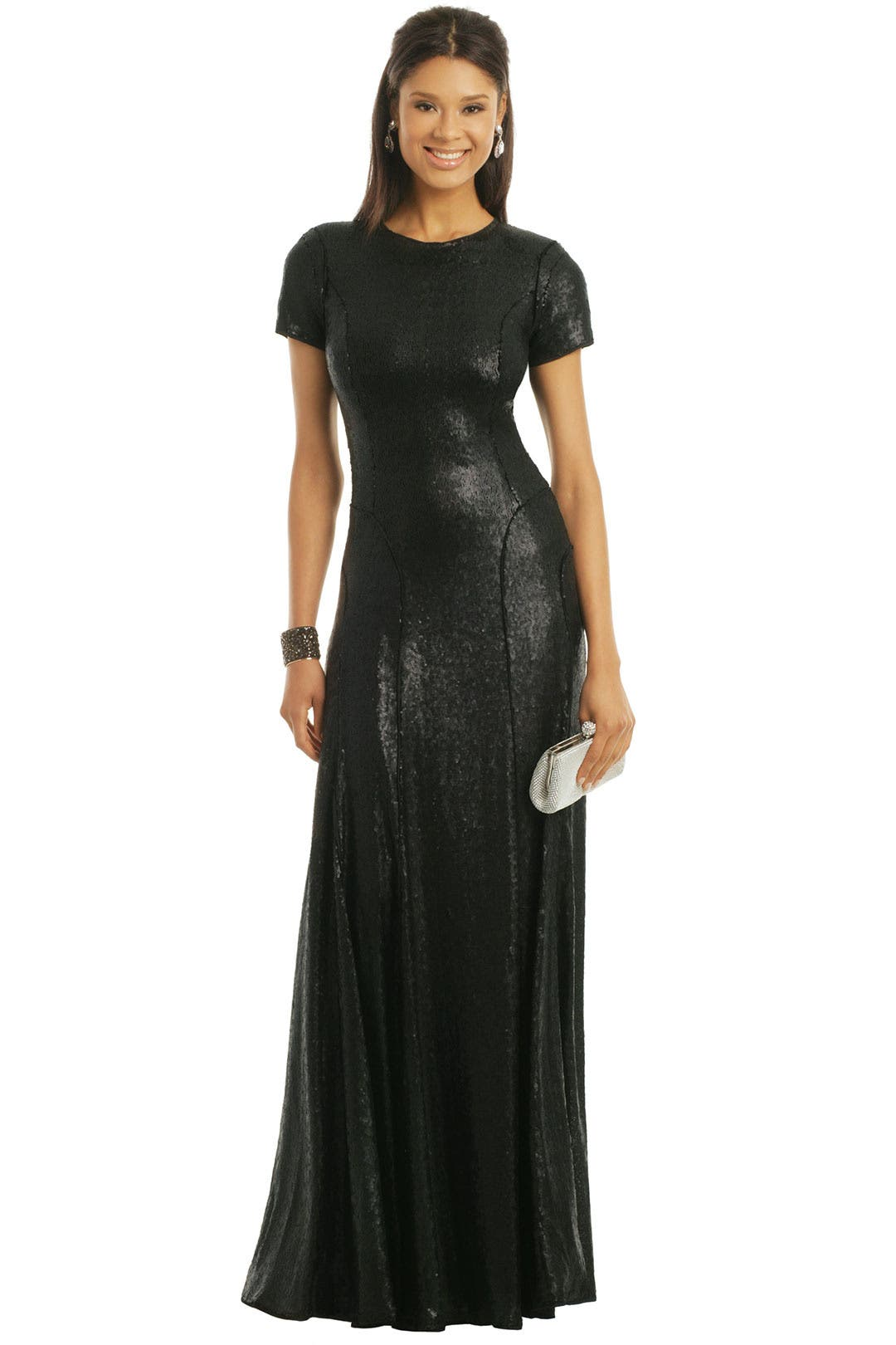 Black Liquid Gown by Carlos Miele