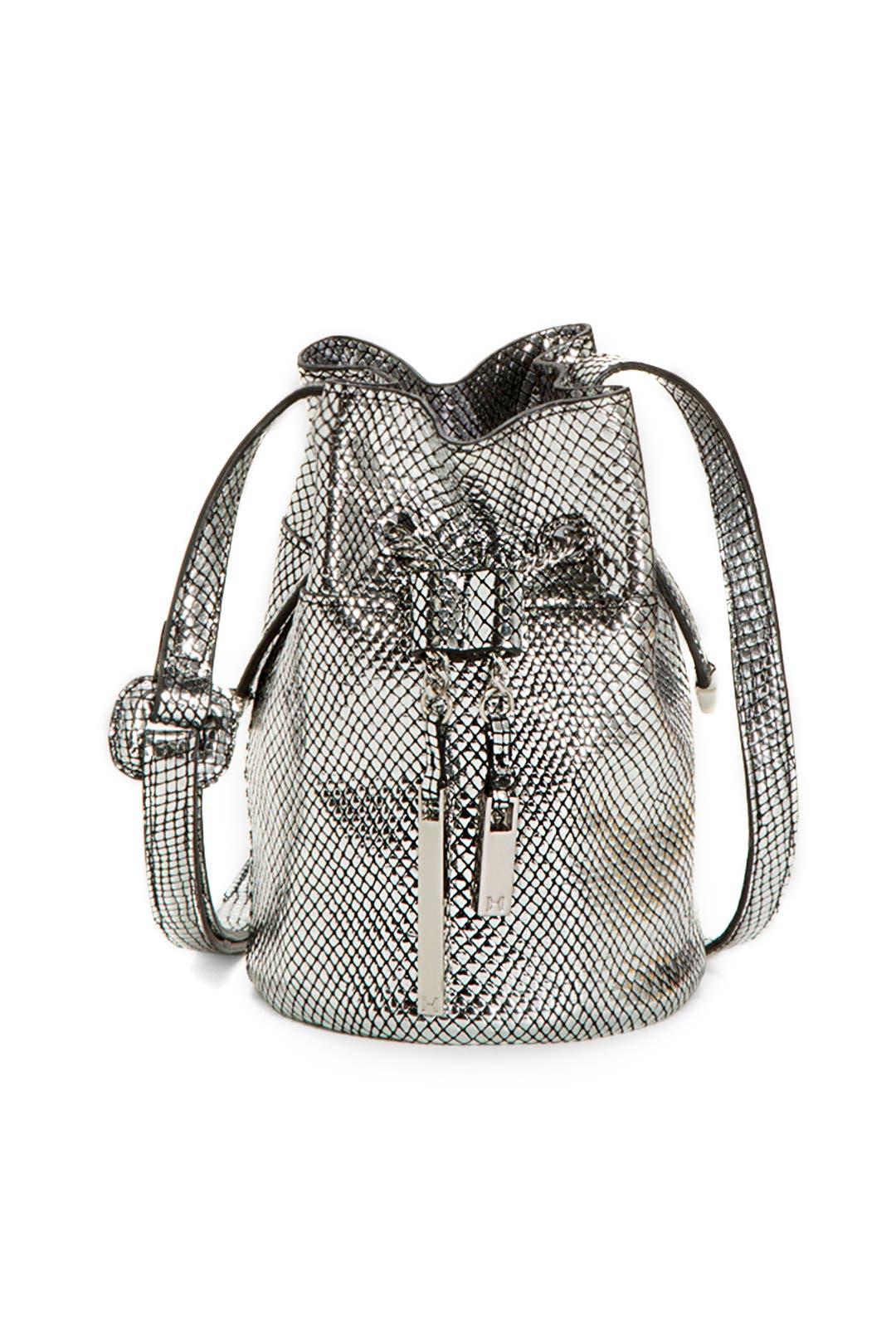 Silver Mini Bucket by Halston Heritage Handbags