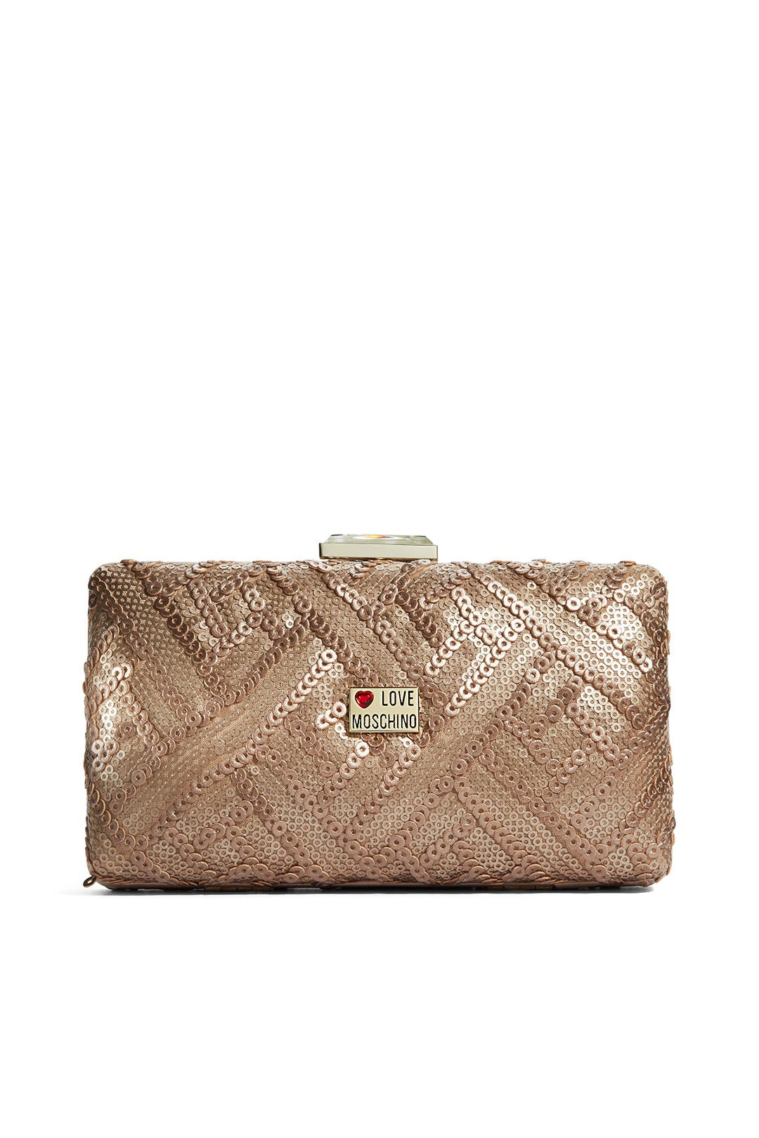Pink Champagne Clutch by Love Moschino Accessories