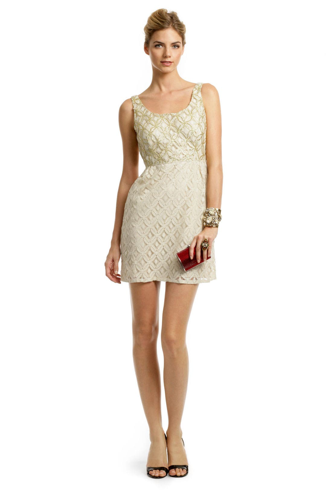 Creme Brulee Scoop Dress by Anna Sui