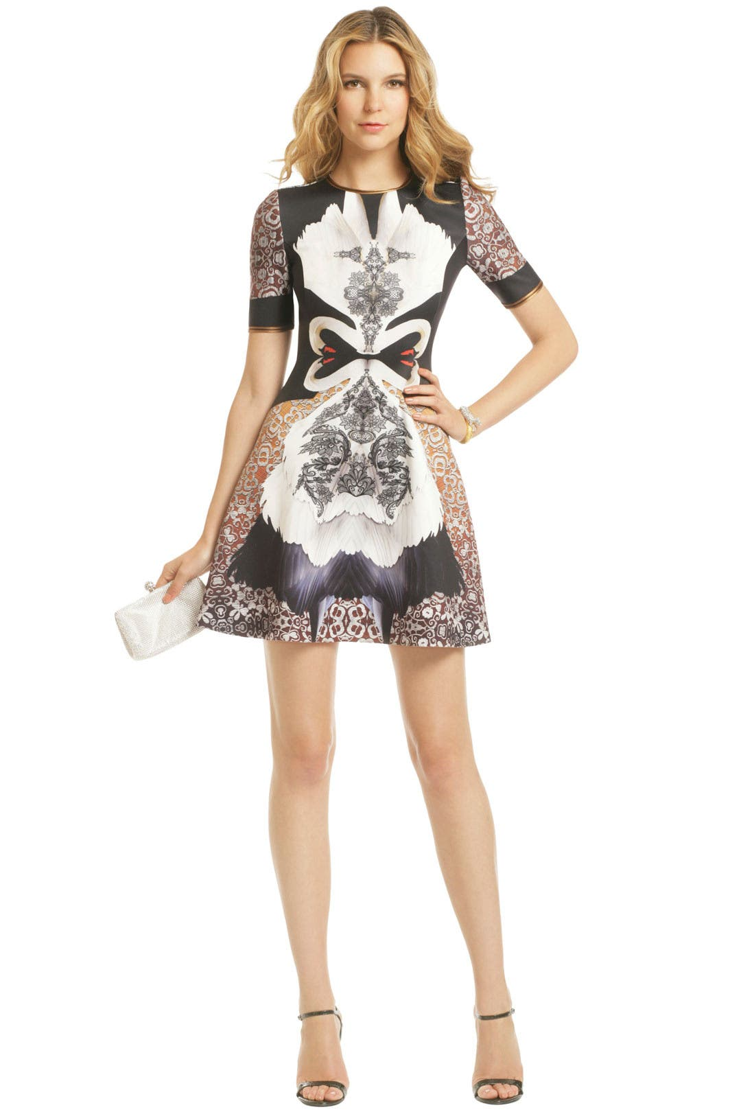 Swan Print Dress by Clover Canyon