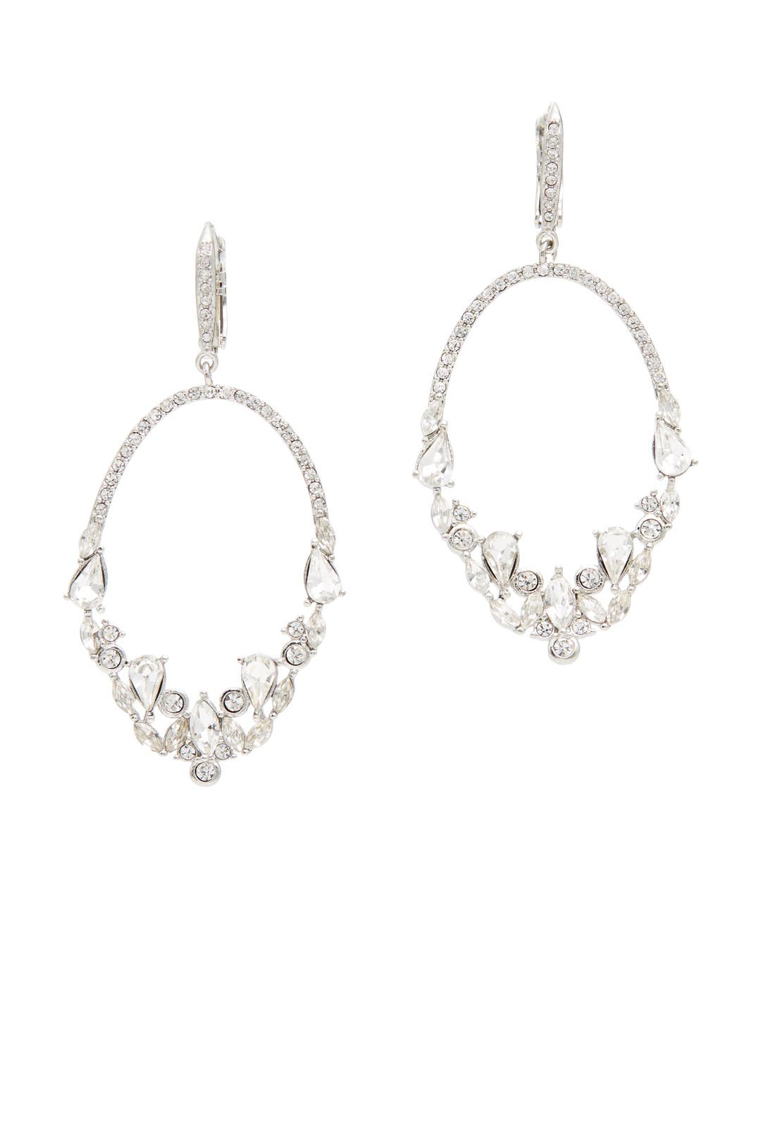 At First Sight Crystal Earrings By Jenny Packham For $10  Rent The Runway