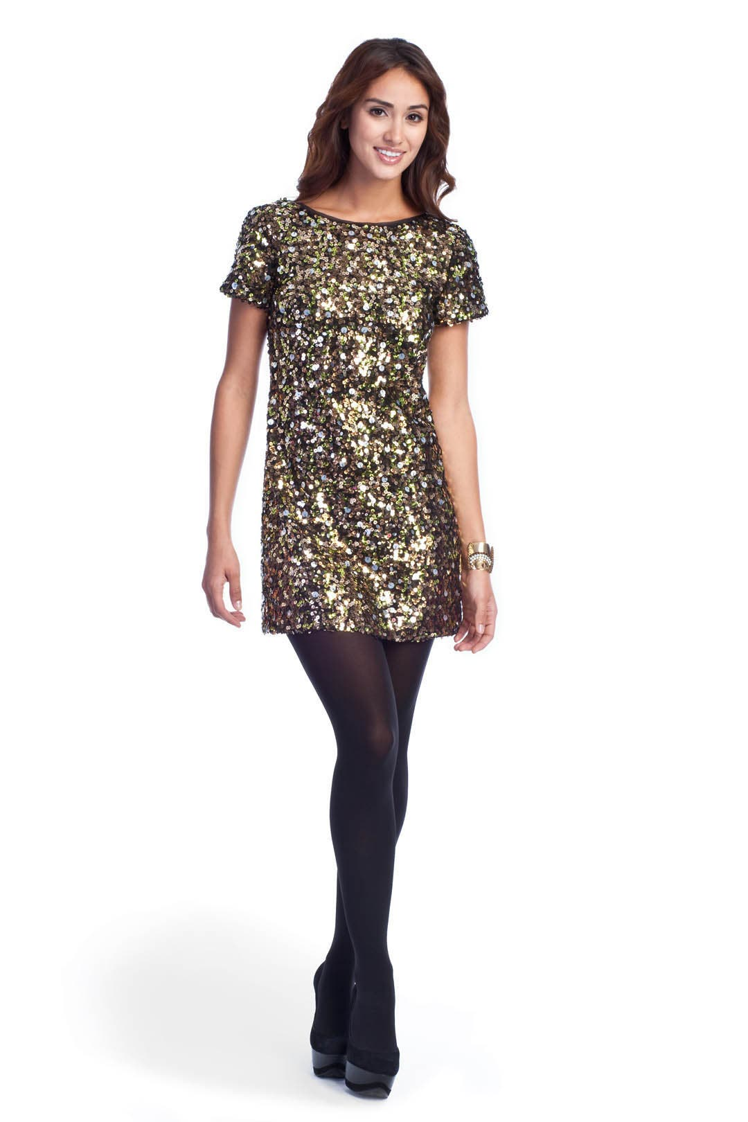 Confetti Sequins Dress by Tibi