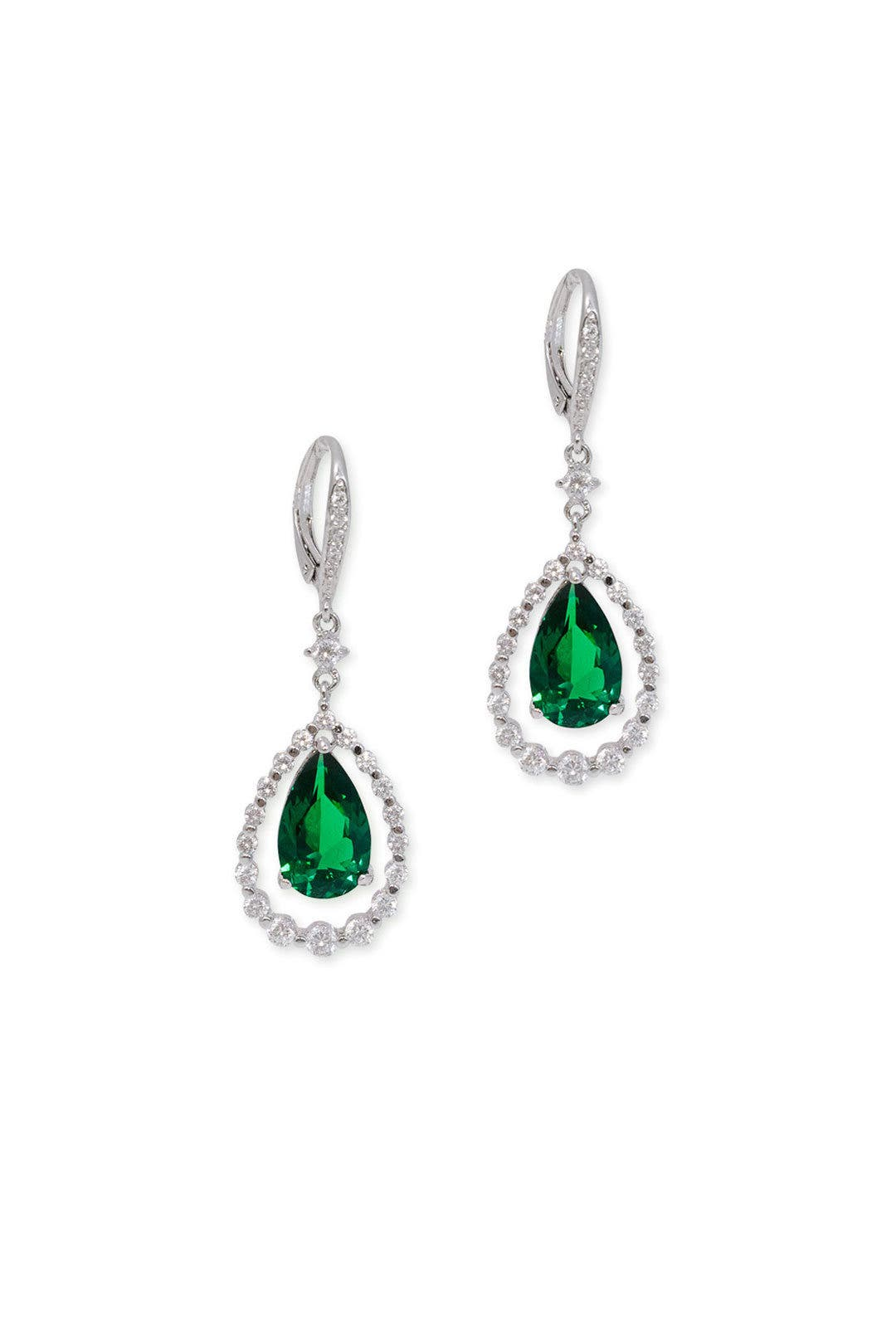 Pave Swing Earrings by Kenneth Jay Lane