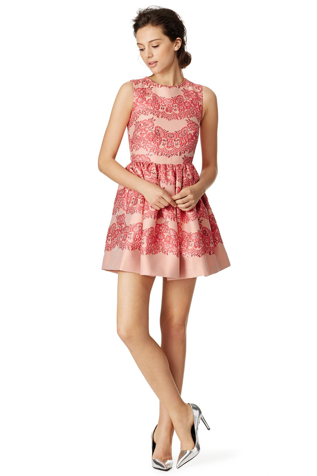 lines of pink dress by red valentino for 150 rent the