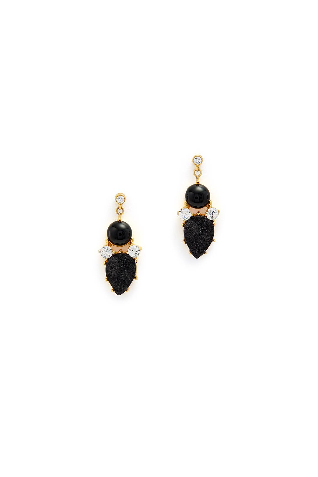 Geo Black Onyx Drop Earrings by Gerard Yosca