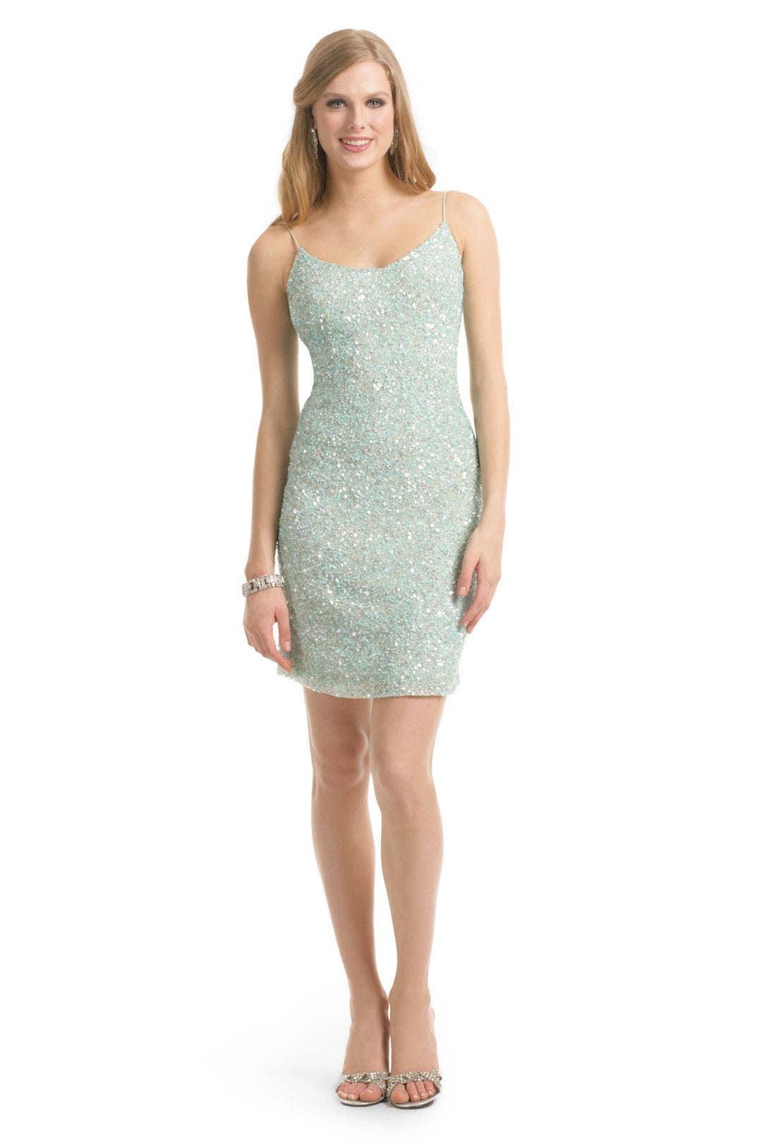 Spearmint Sequin Cami Dress by Theia