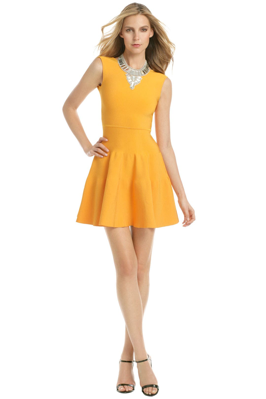 Amber orange flippy dress by issa for 89 rent the runway ombrellifo Images