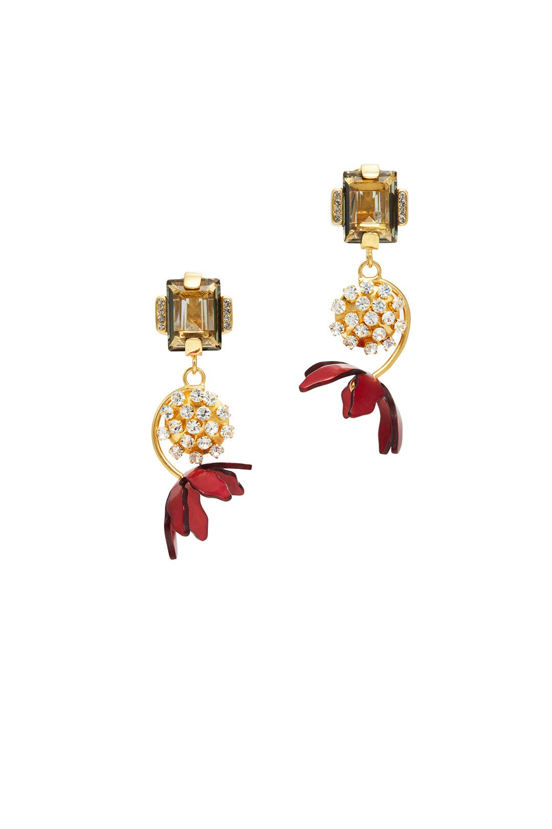 Red Floral Horn Earrings By Marni Accessories For $85  Rent The Runway