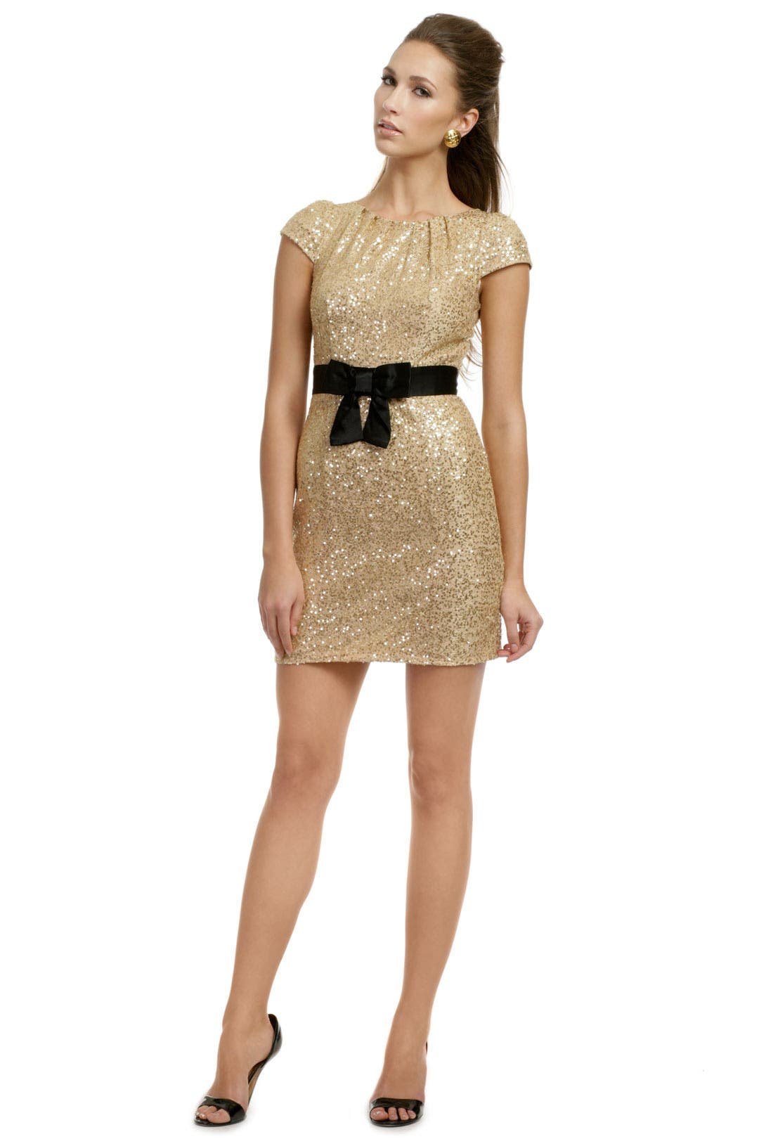 Black and gold milly dress