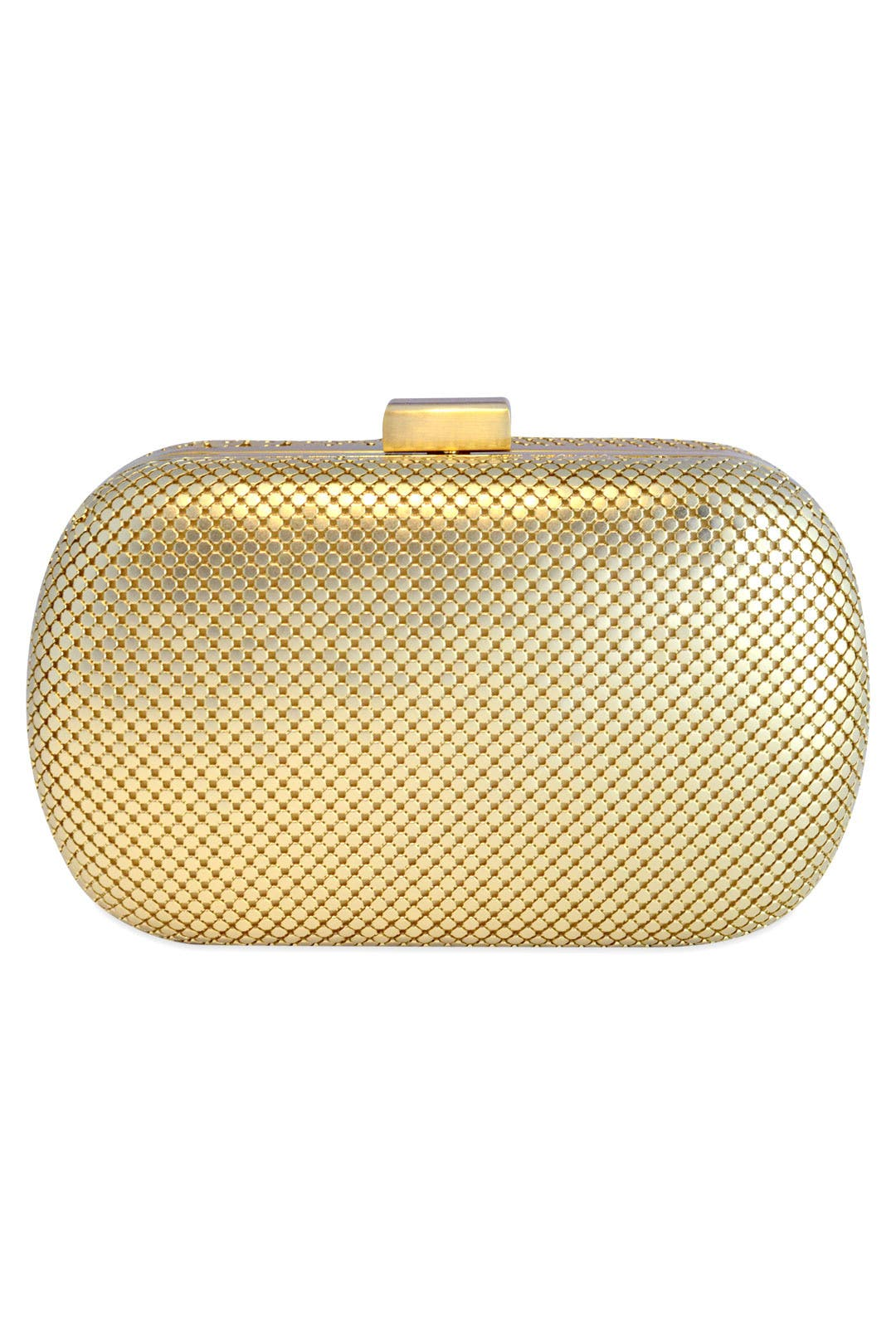 Gilded Lattice Clutch by Whiting & Davis