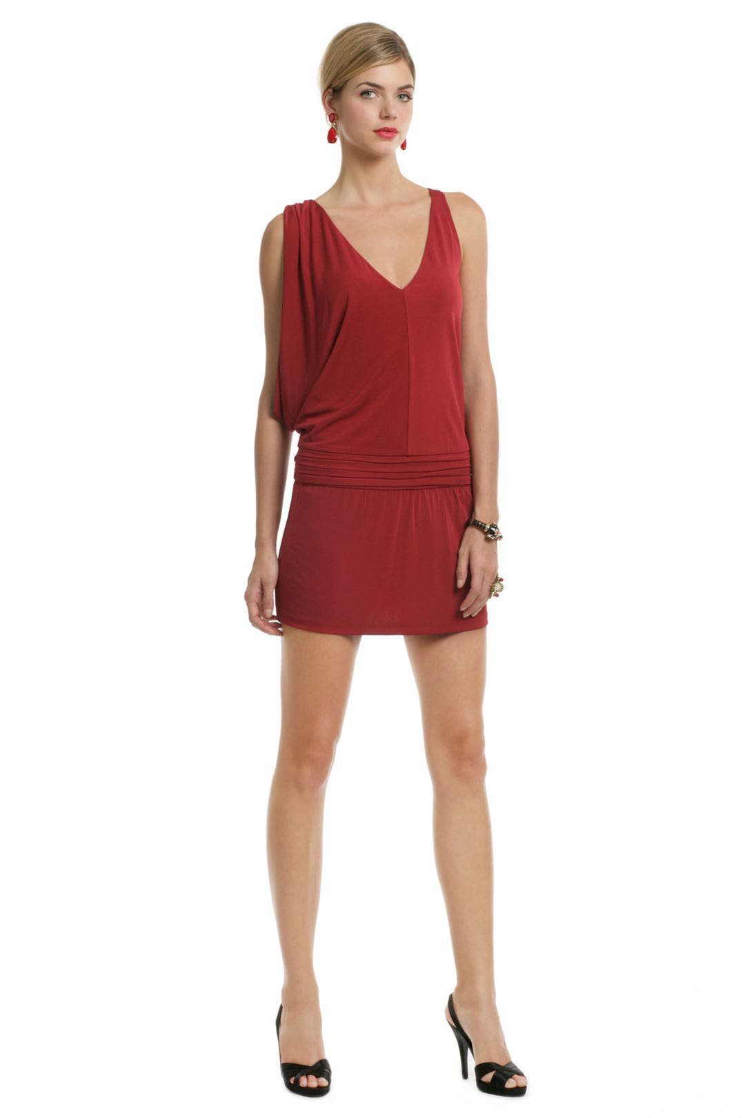 Crimson Crush Mini Dress by Haute Hippie