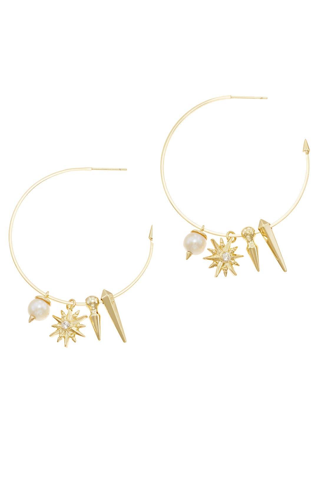 Baroque Pearl Cindy Hoop Earrings By Kendra Scott