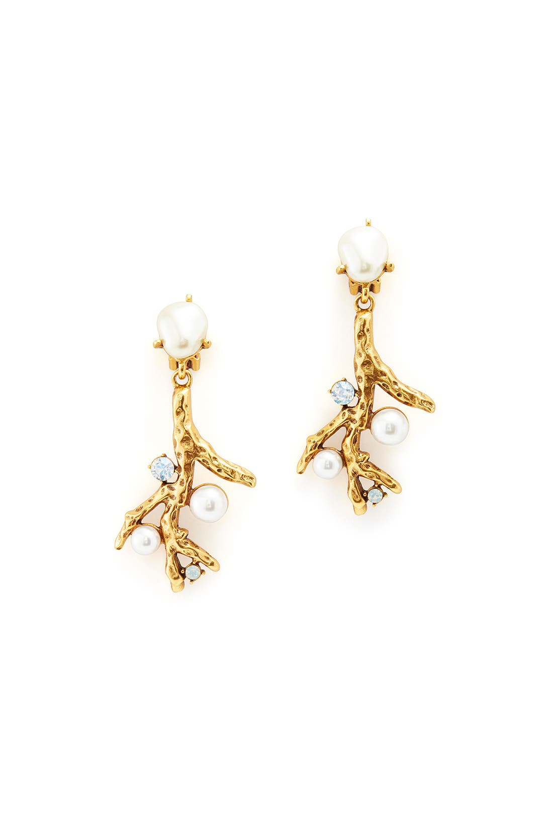 Great Barrier Drop Earrings by Oscar de la Renta
