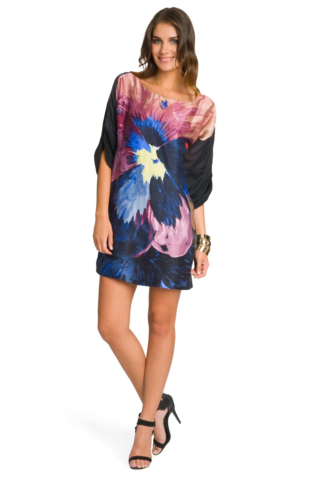 Pansy Print Tunic by Tibi
