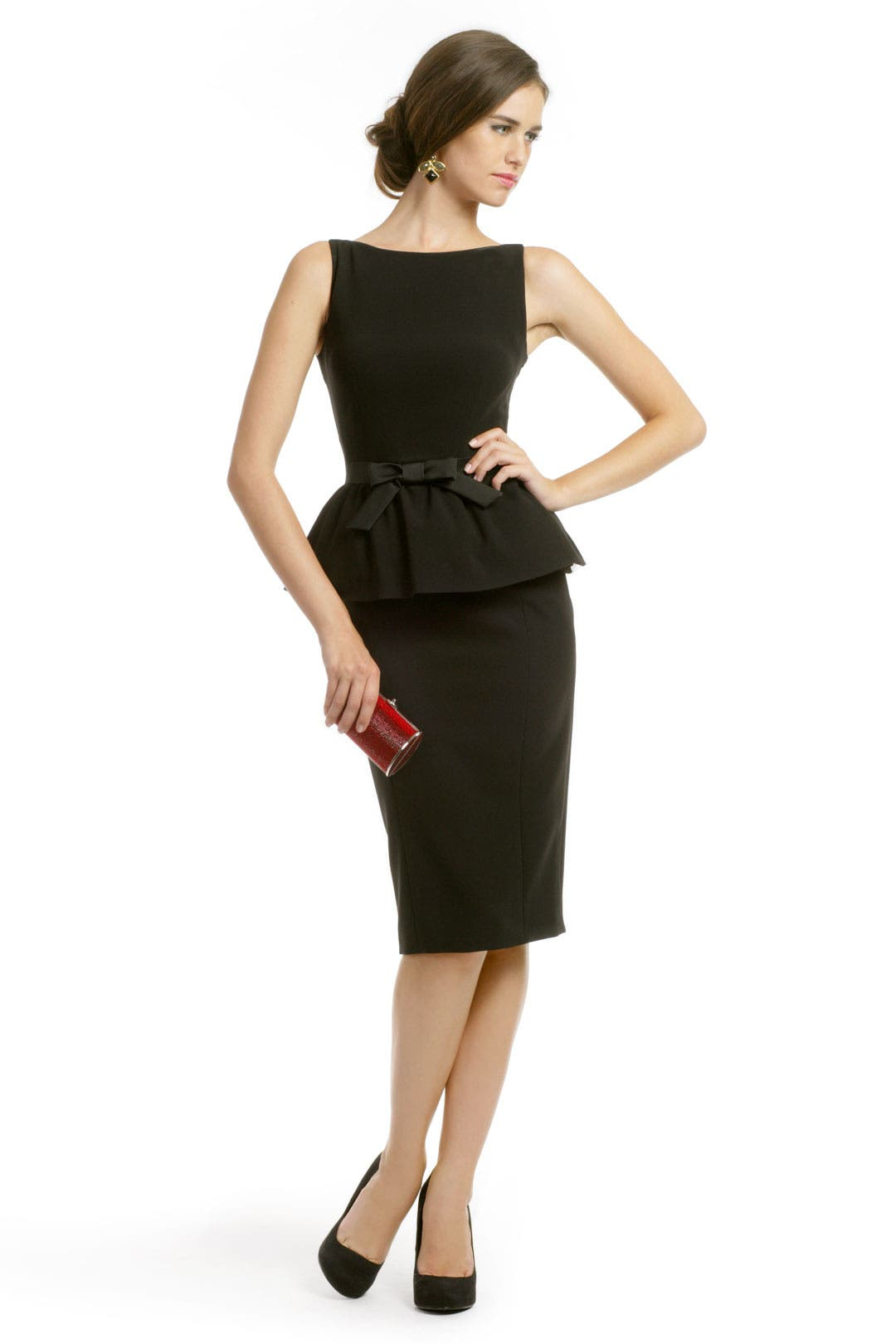 Michelle Peplum Dress by Moschino