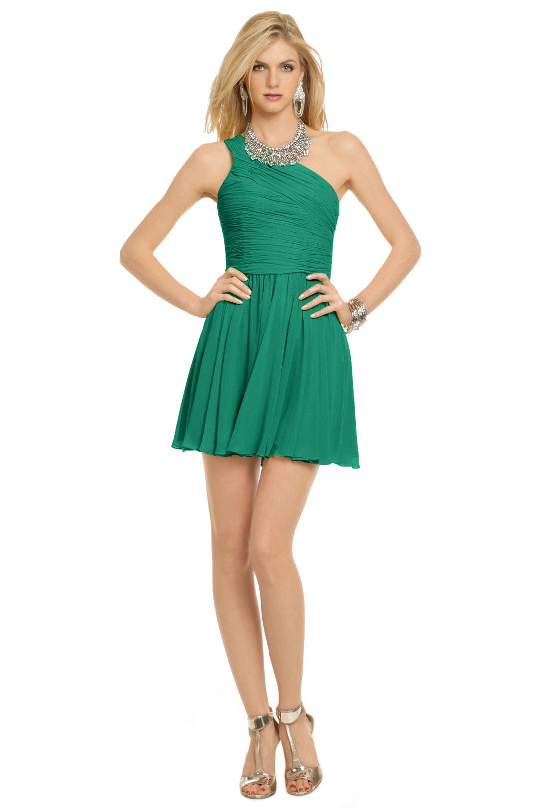 Green Tropics Dress by Halston Heritage
