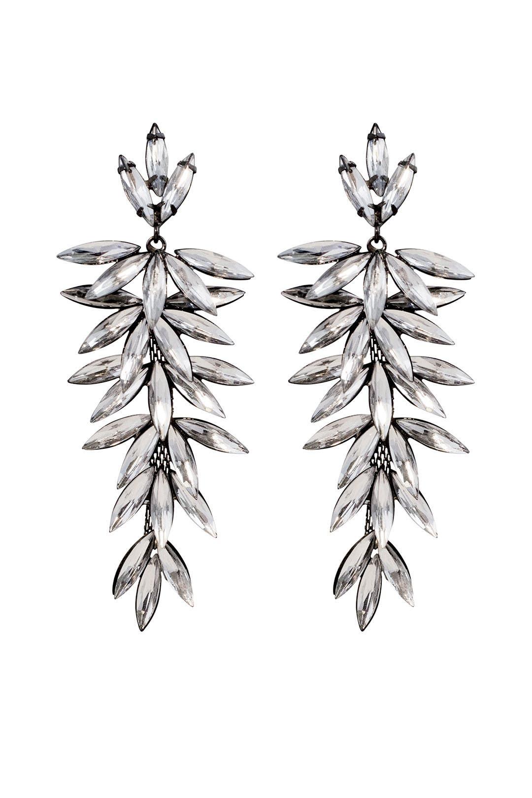 Crystal Thorn Drop Earrings by RJ Graziano