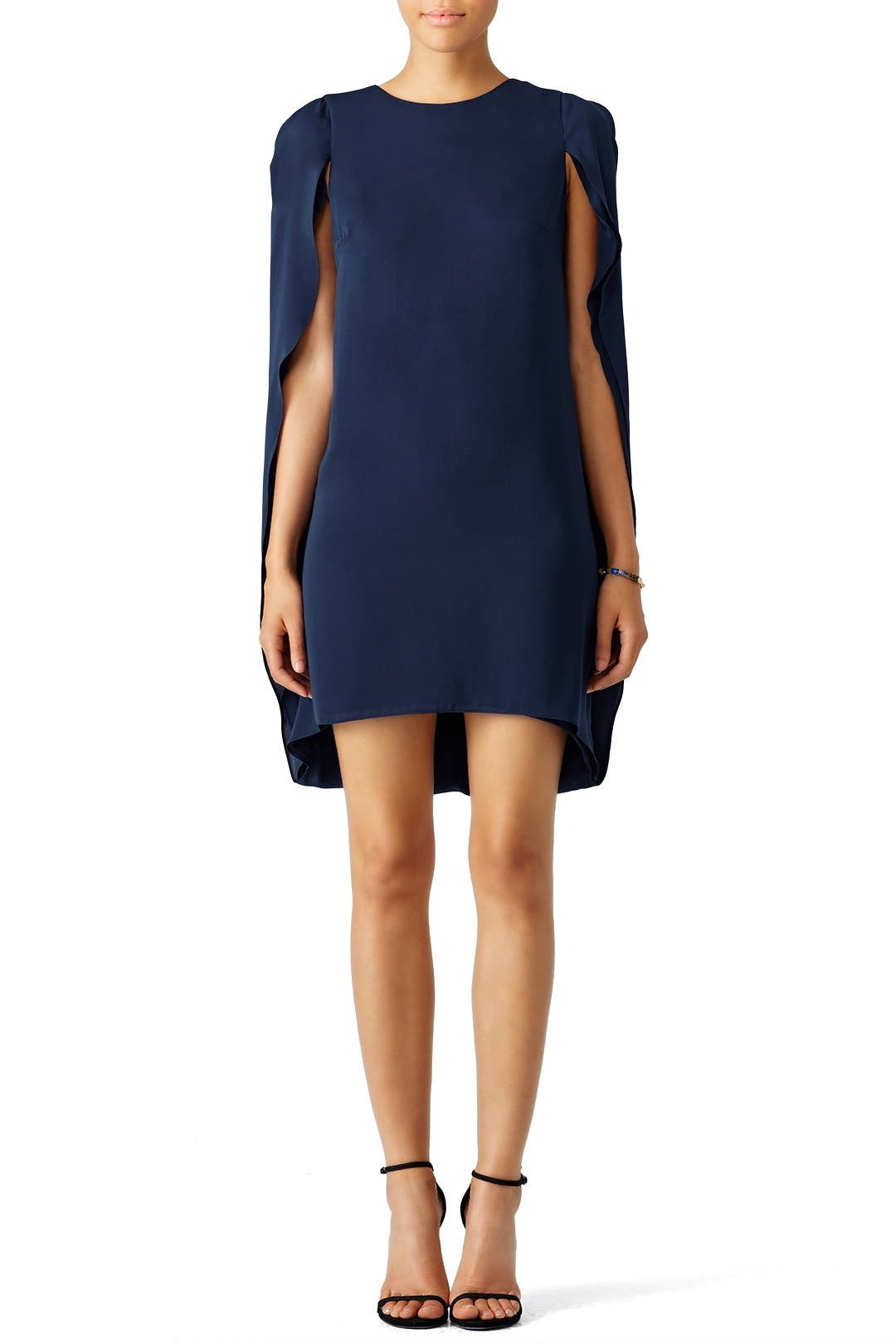 Navy Cape Dress By Halston Heritage For 55 Rent The Runway
