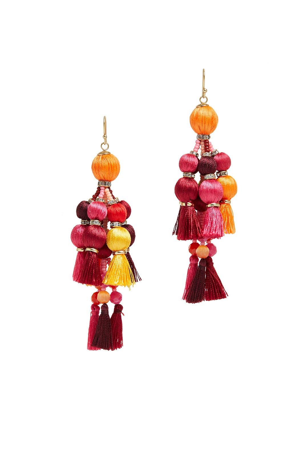 Multi Pretty Poms Tassel Earrings by kate spade new york accessories ...
